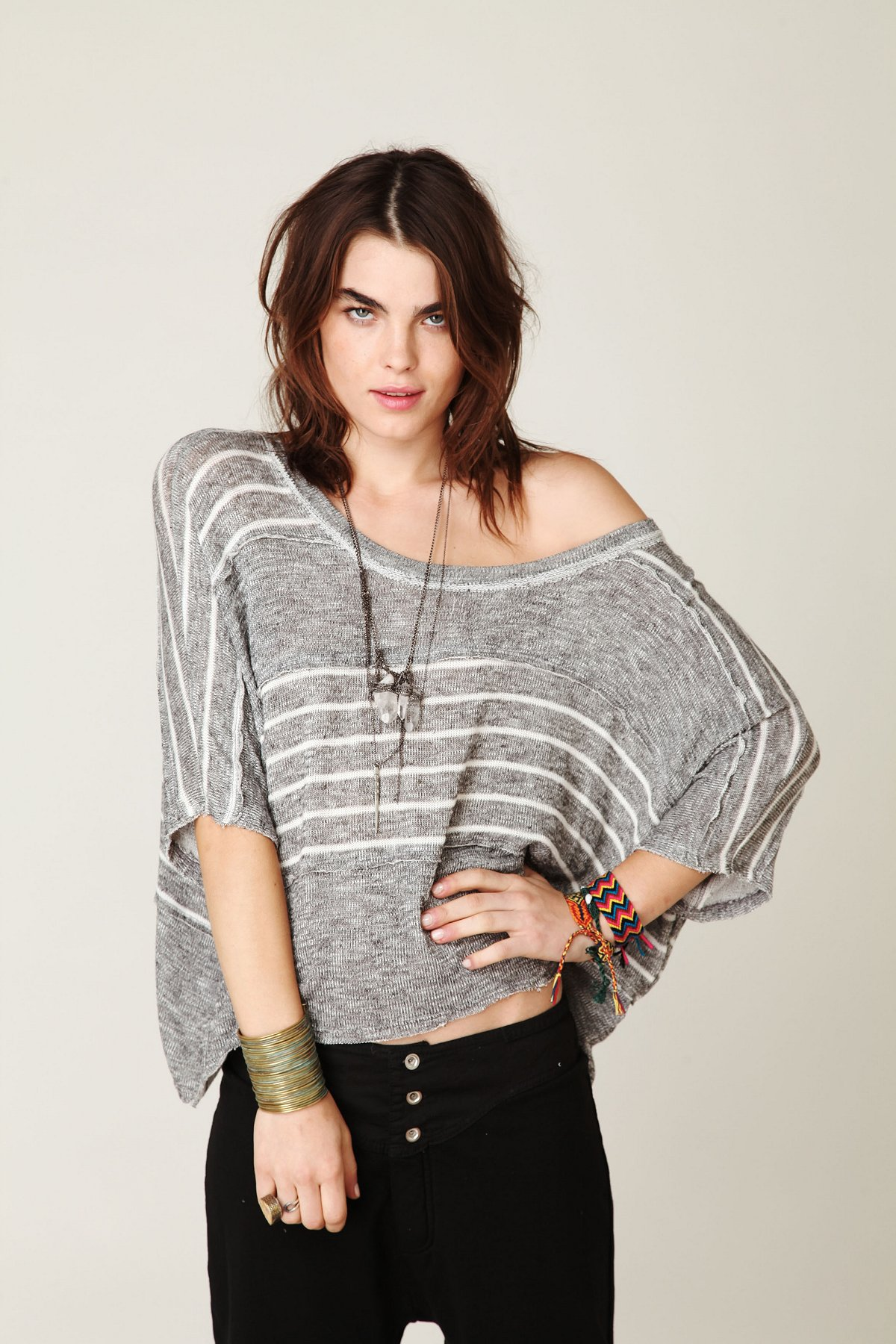 We The Free Boxy Striped Sweater Tee