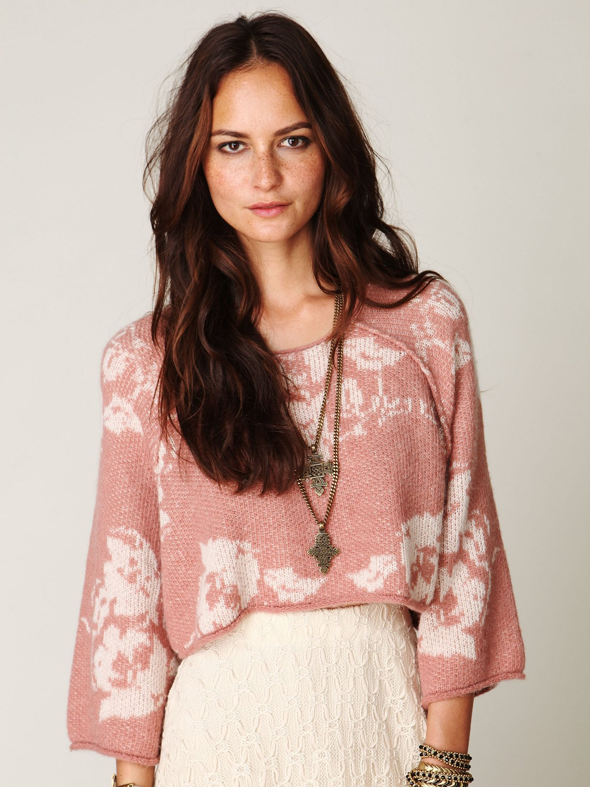 Floral Woven Pullover