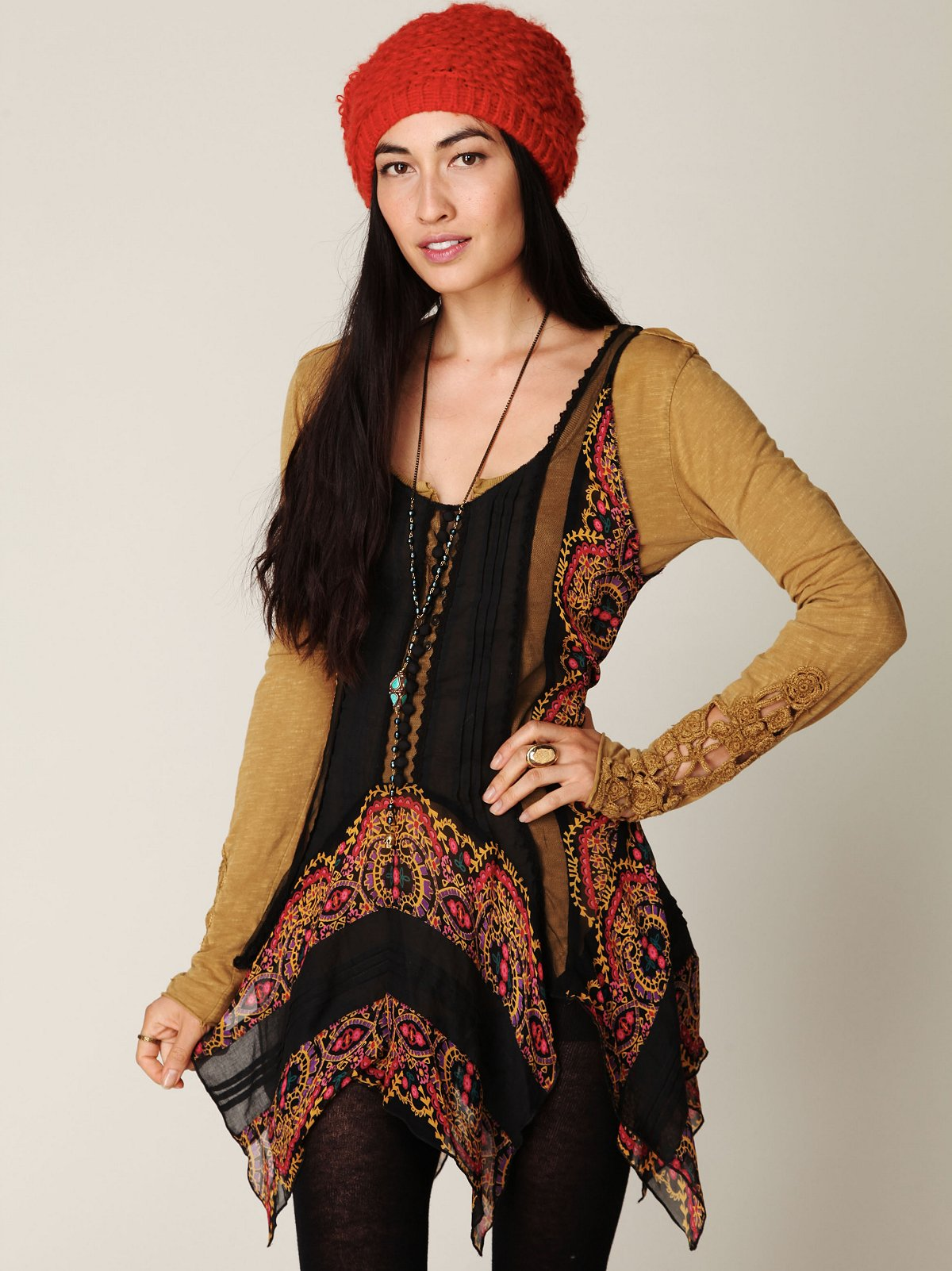 FP ONE Border Print Tunic