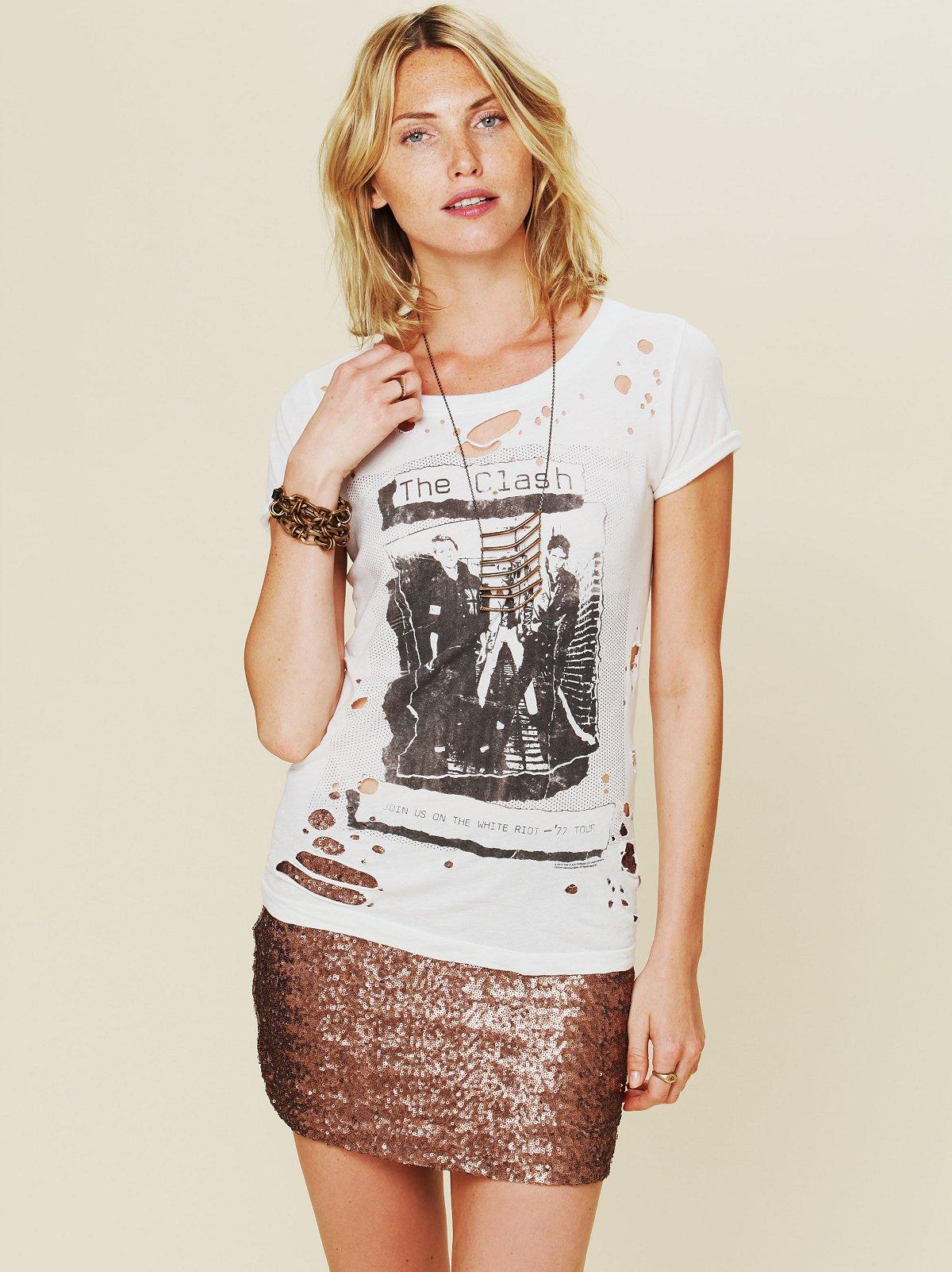 Fever Sequin Bodycon Skirt