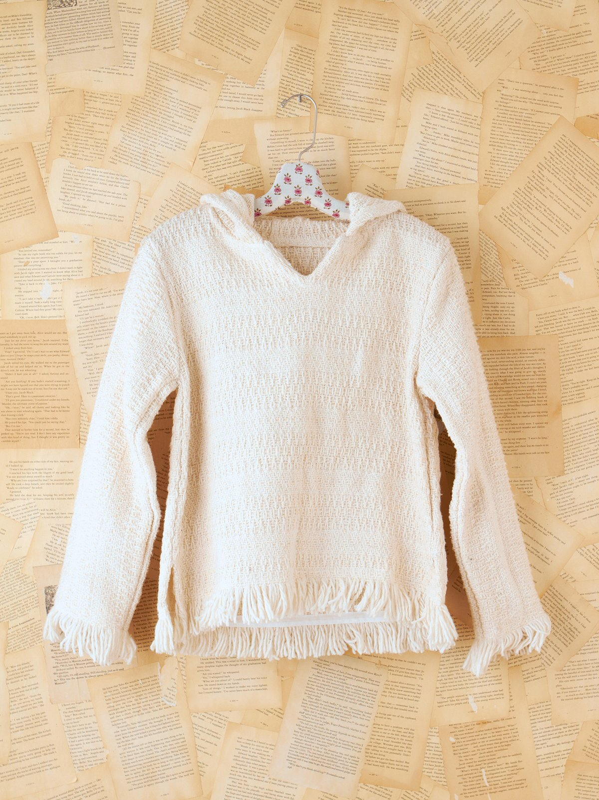 Vintage White Woven Pullover