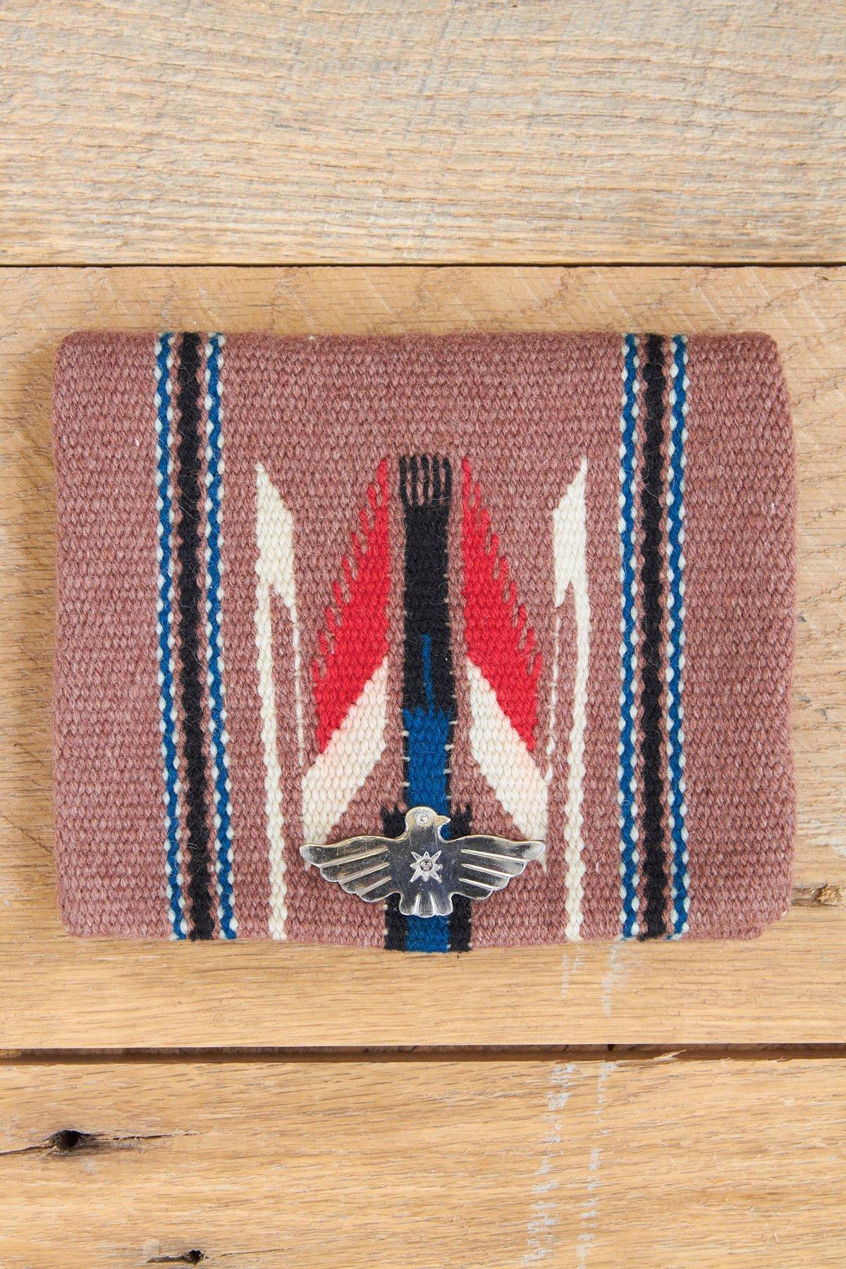 Vintage Coffee Brown Woven Wool Bag