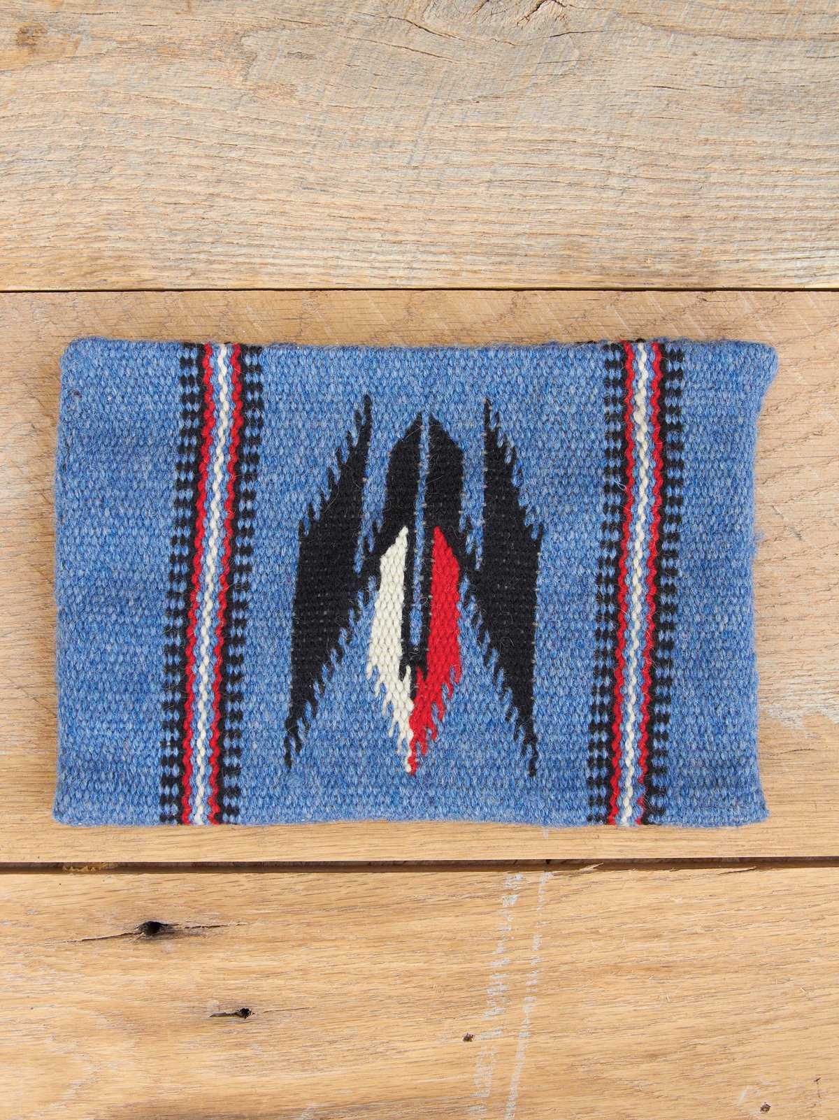 Vintage Blue Wool Chimayo Bag