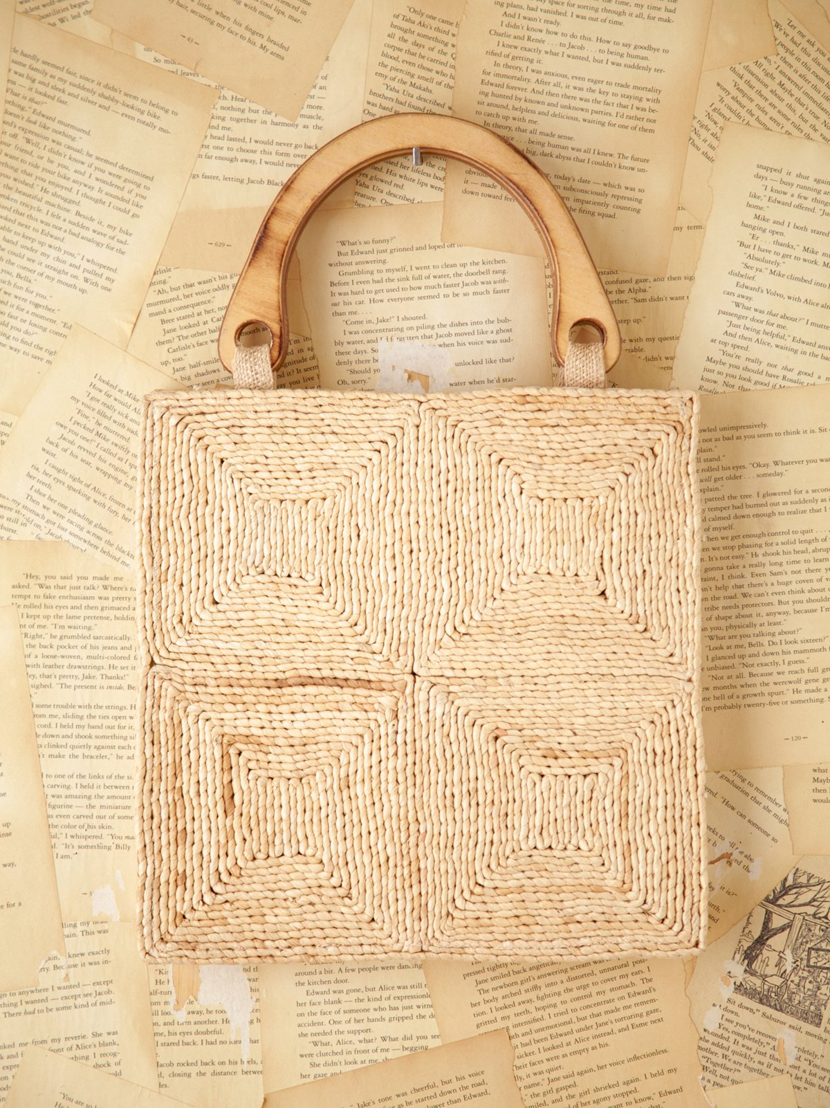 Vintage Square Straw Bag
