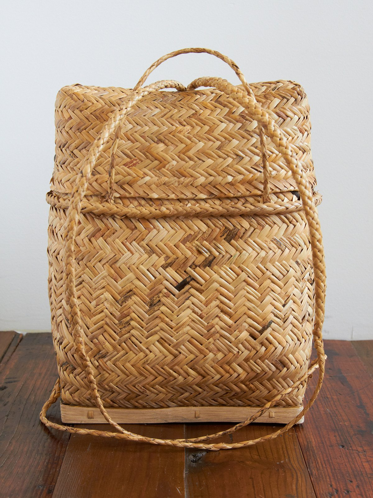 Vintage Wicker Backpack