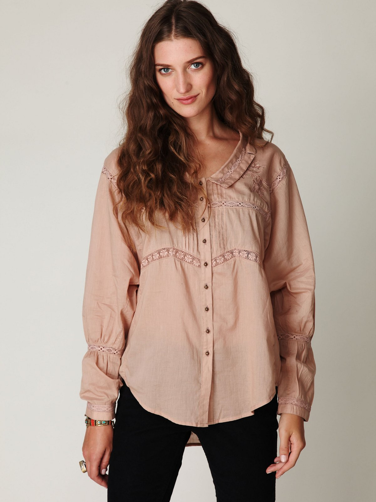 FP New Romantics Tie Front Blouse