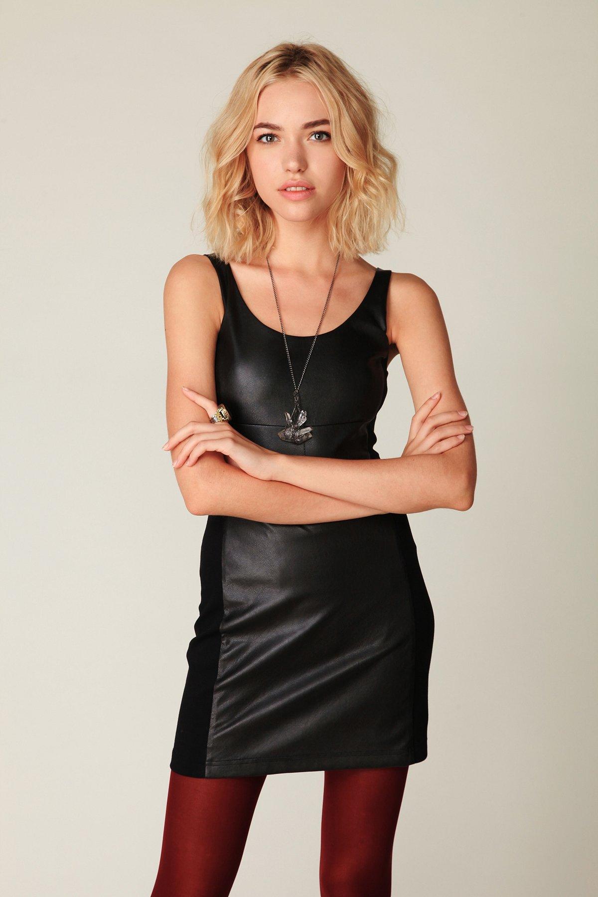 Vegan Leather Bodycon Dress