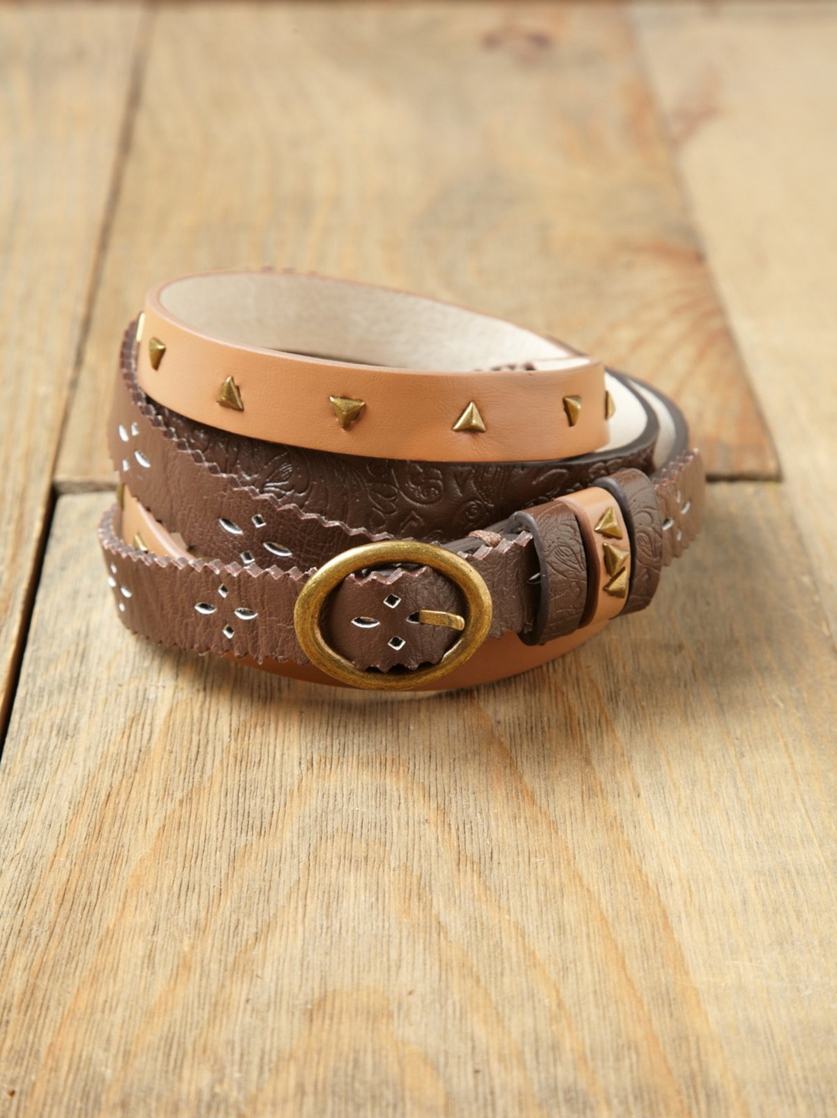Patchwork Double Wrap Belt