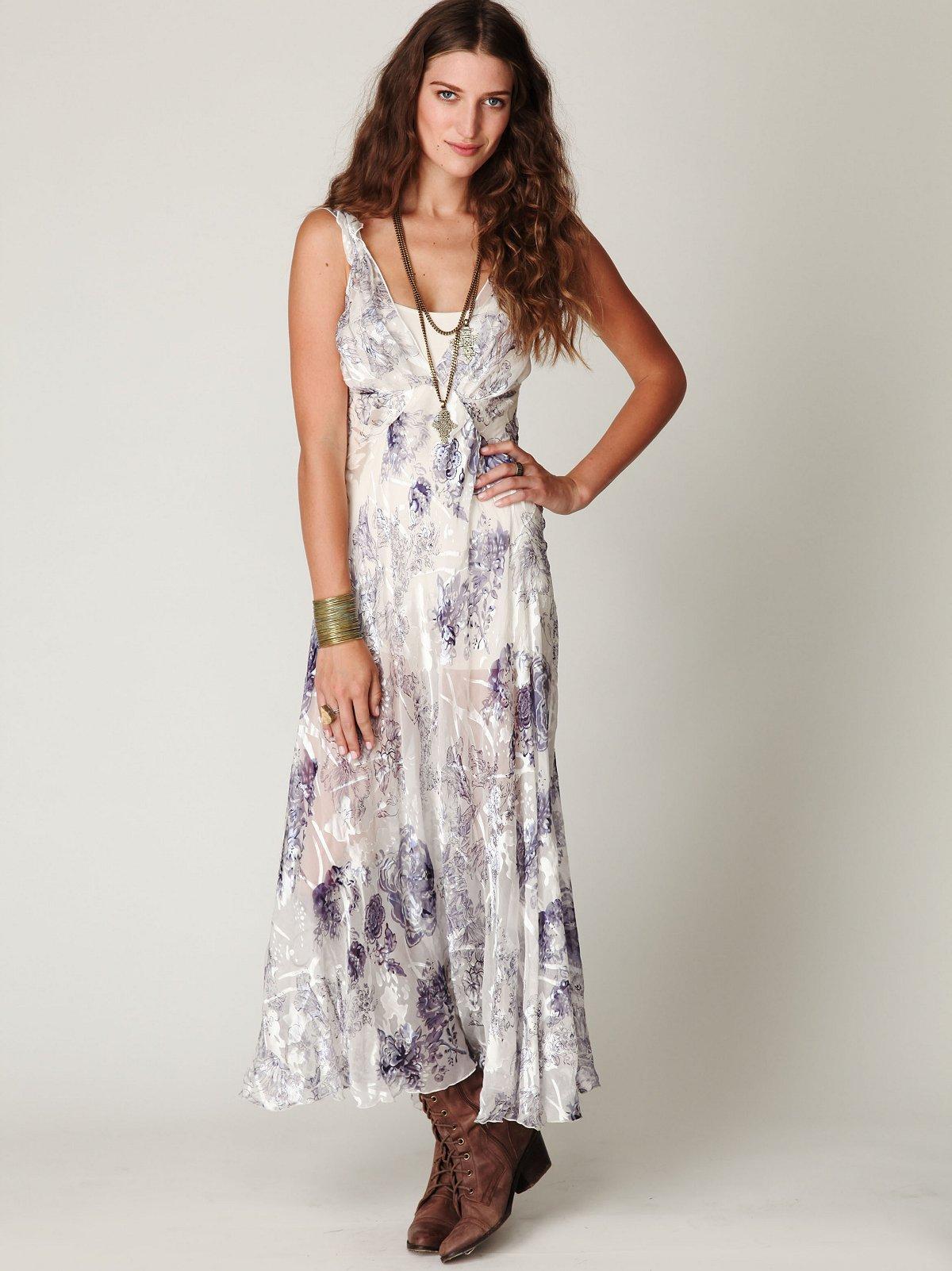 Native Floral Silk Slip