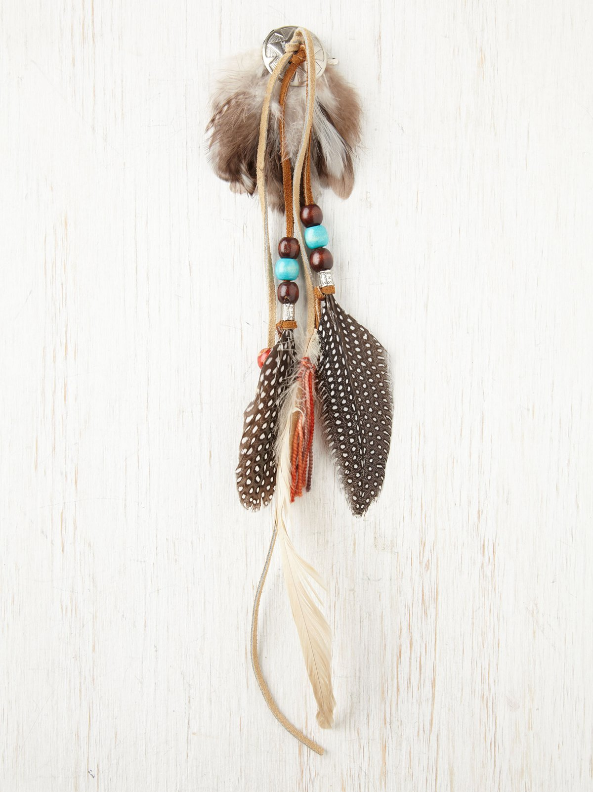 Fringe and Feather Hair Clip