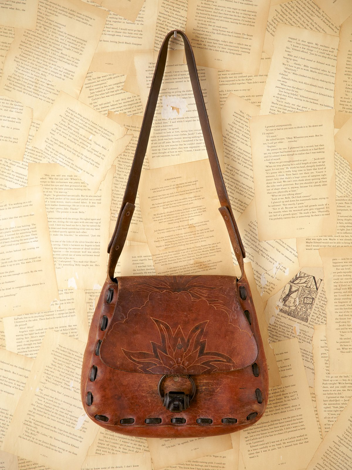 Vintage Leather Boho Bag