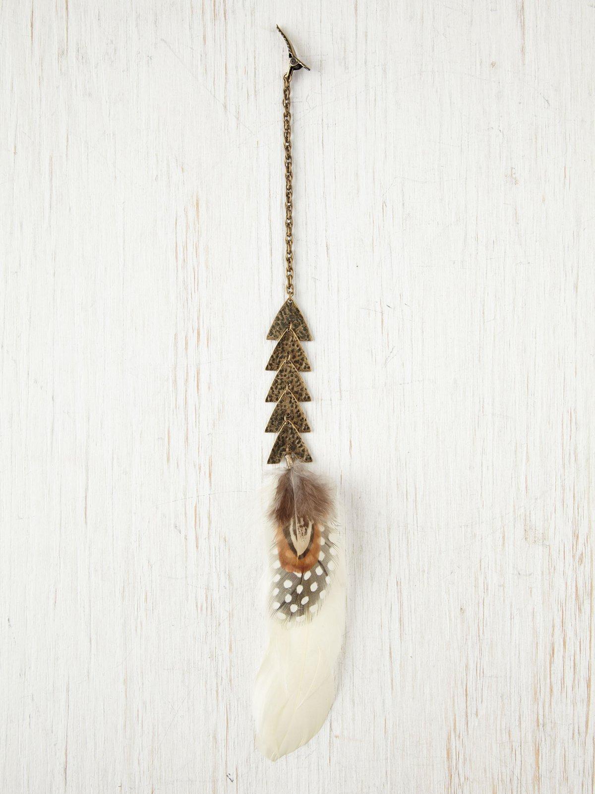 Arrow Feather Hair Clip