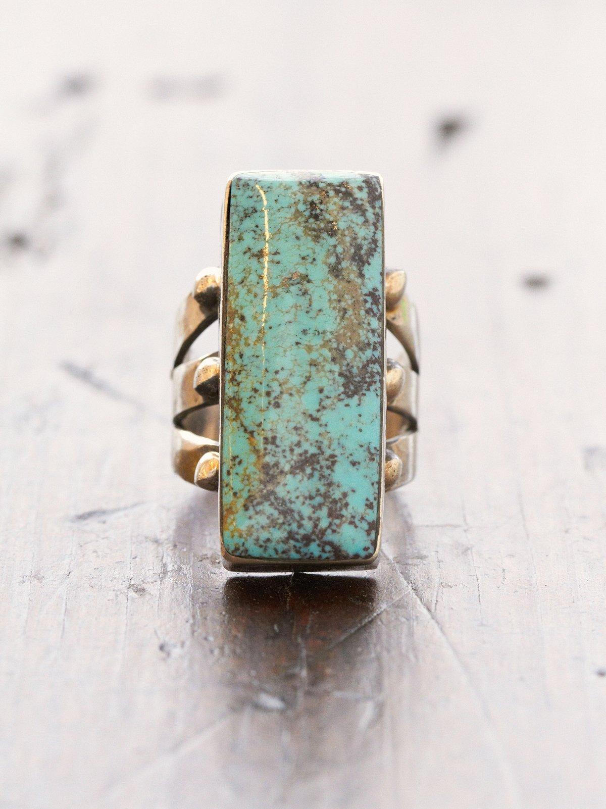 Vintage Handmade Seam Stone Ring