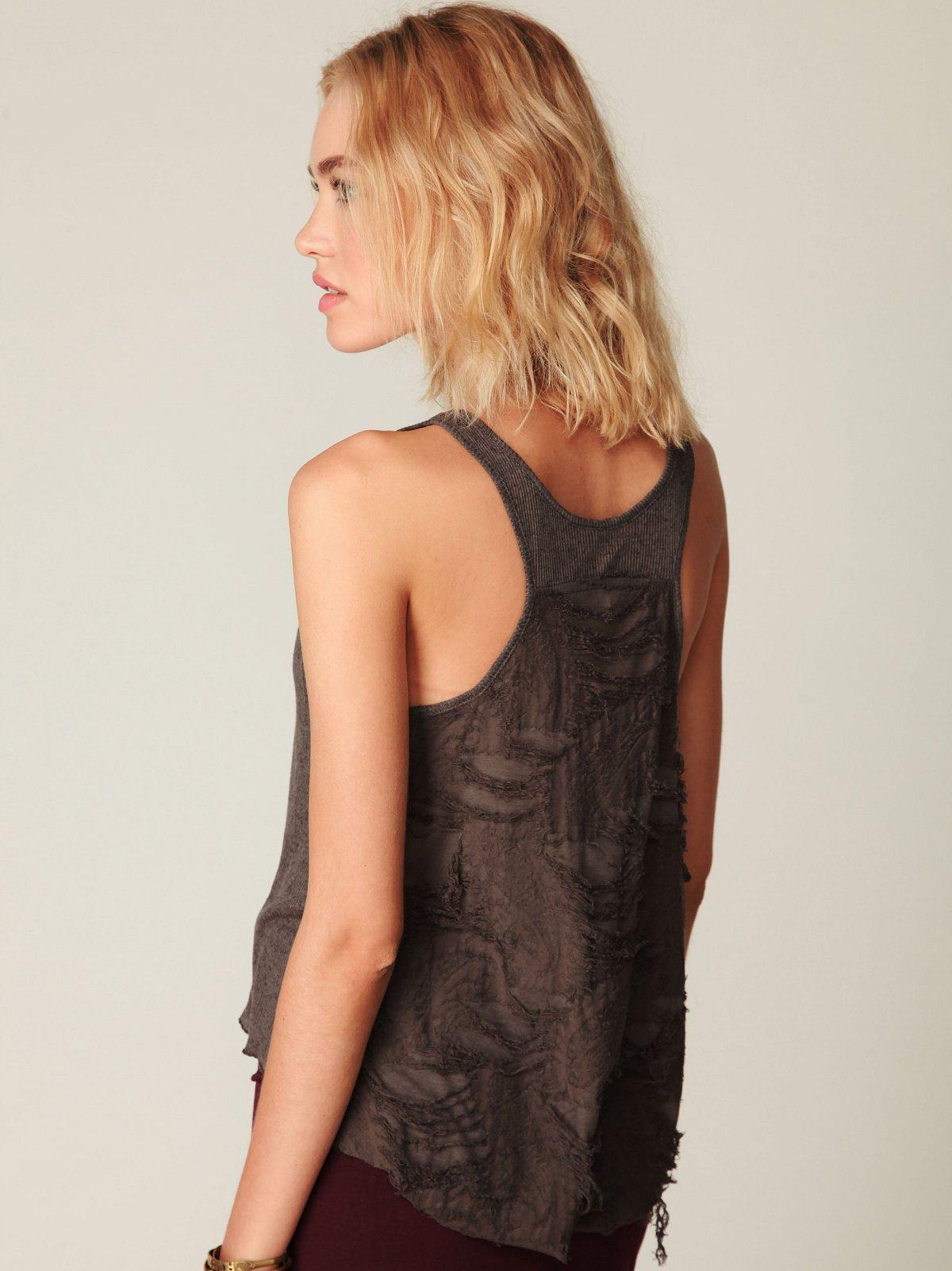 Sleeveless Textured Back Crop Top