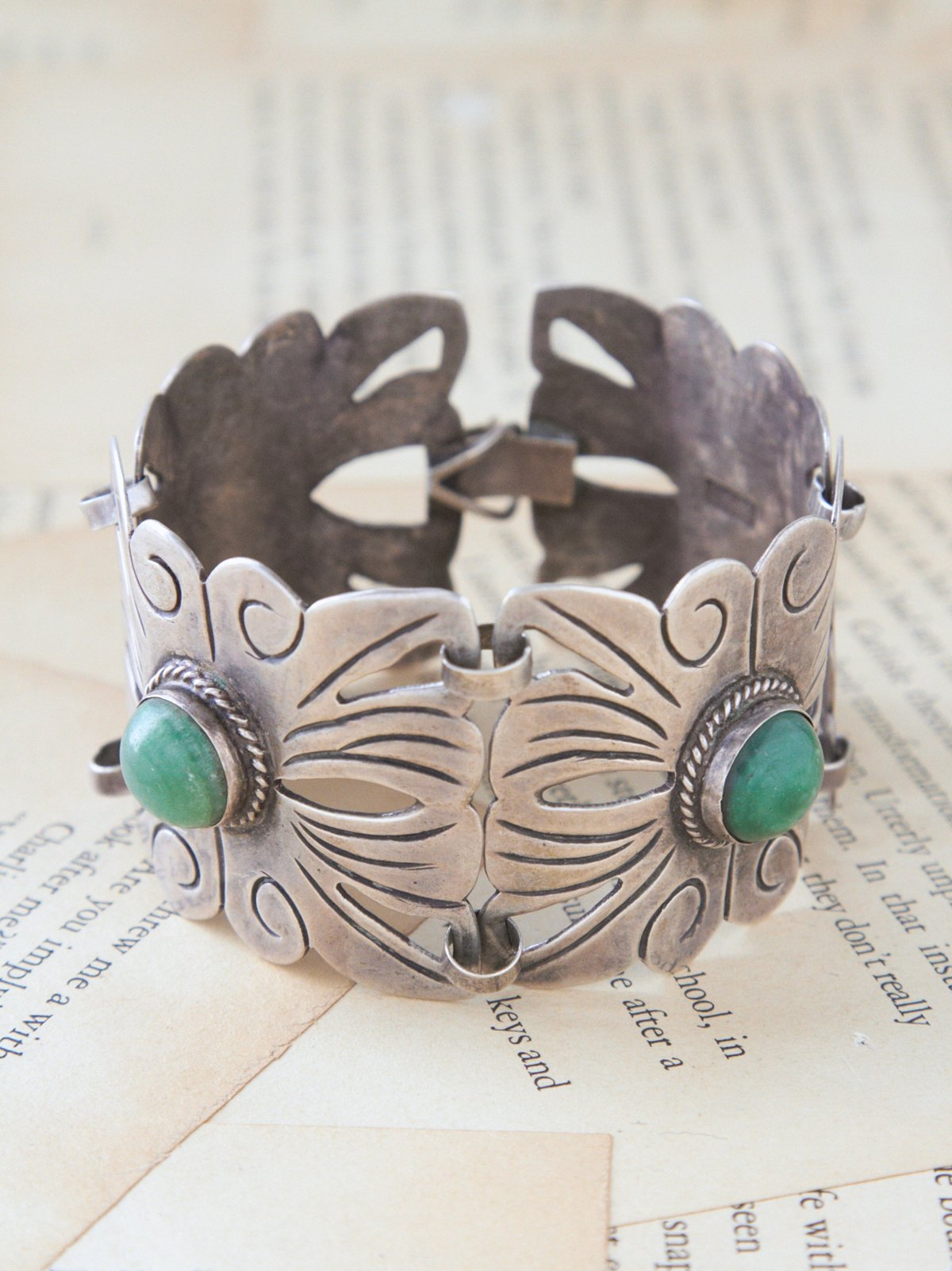 Vintage Silver and Turquoise Cuff