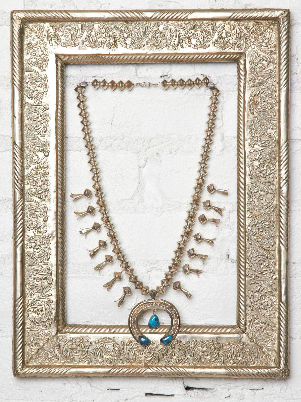 Vintage Natural Squash Blossom Necklace