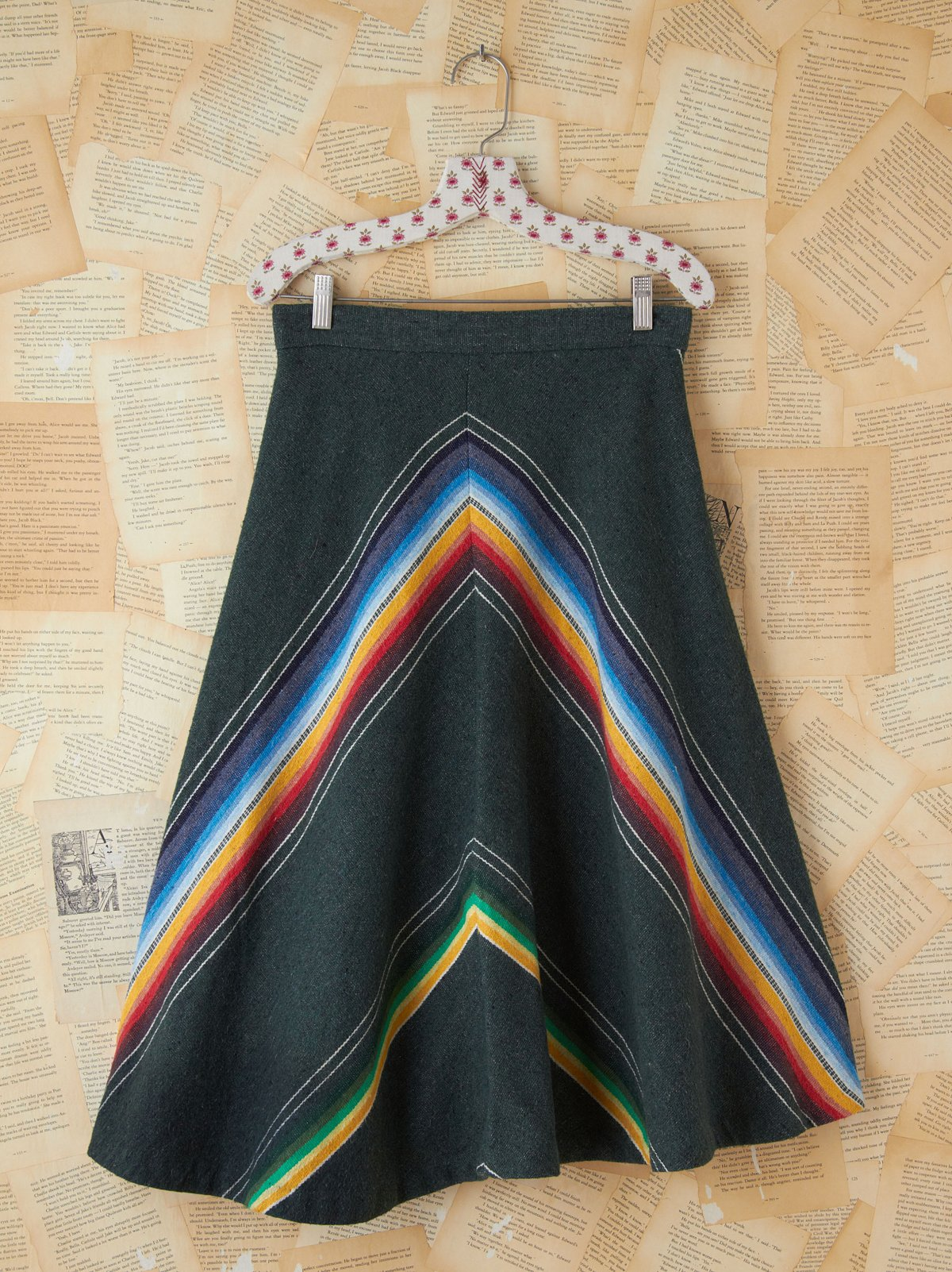 Vintage Serape Striped Skirt