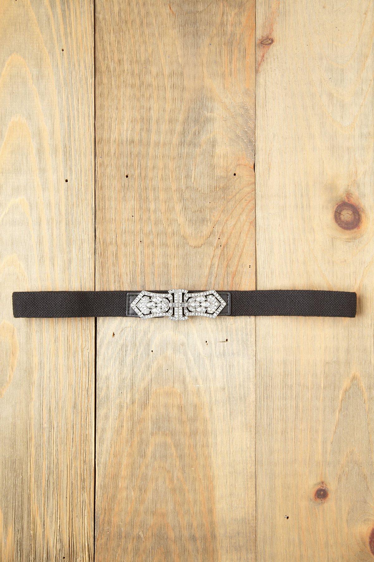 Rhinestone Crest Belt