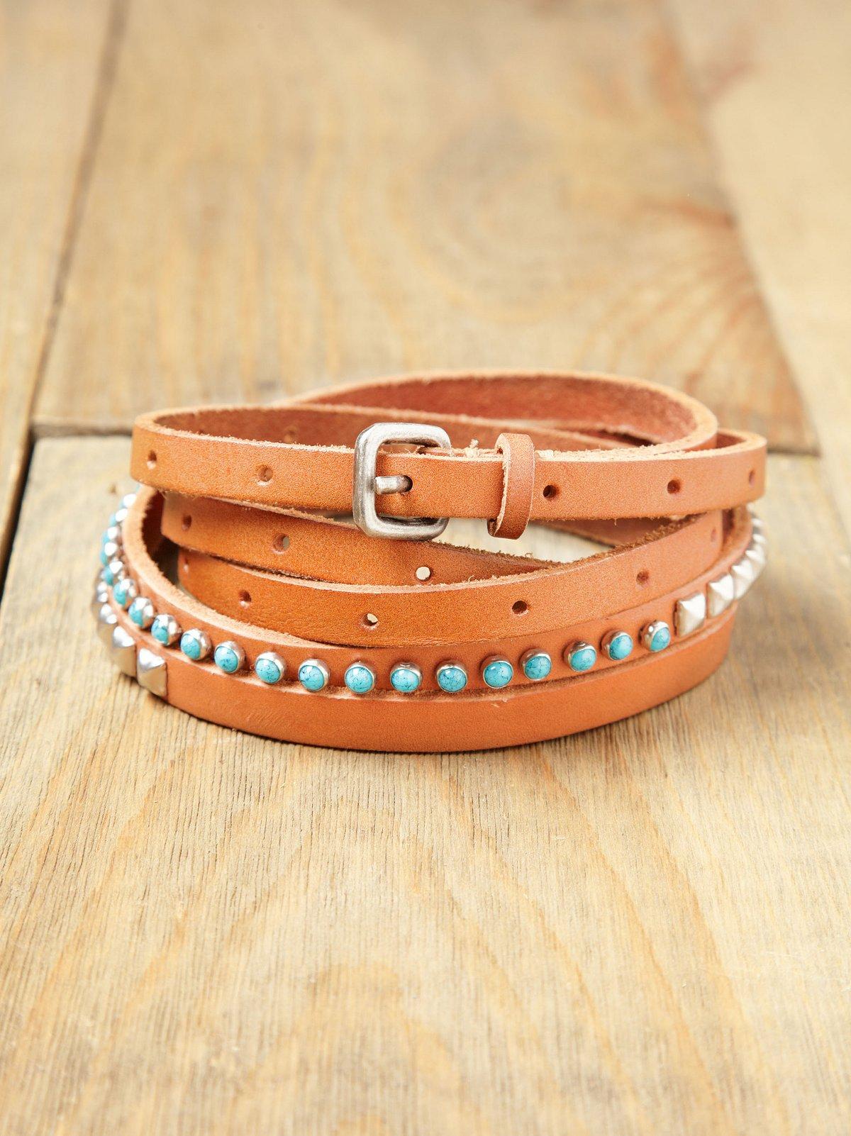 Stone Studded Double Wrap Belt