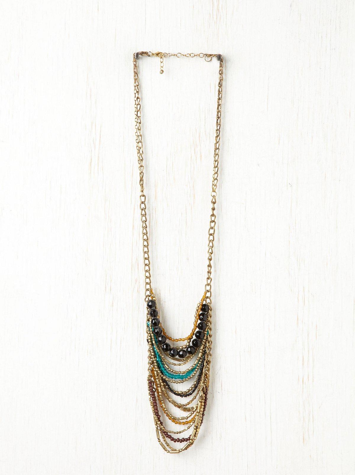 Draped Stone Necklace