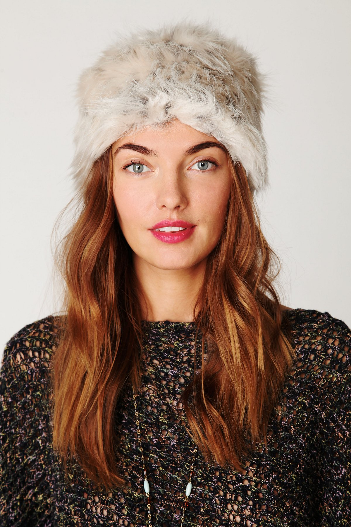 Babushka Faux Fur Hat