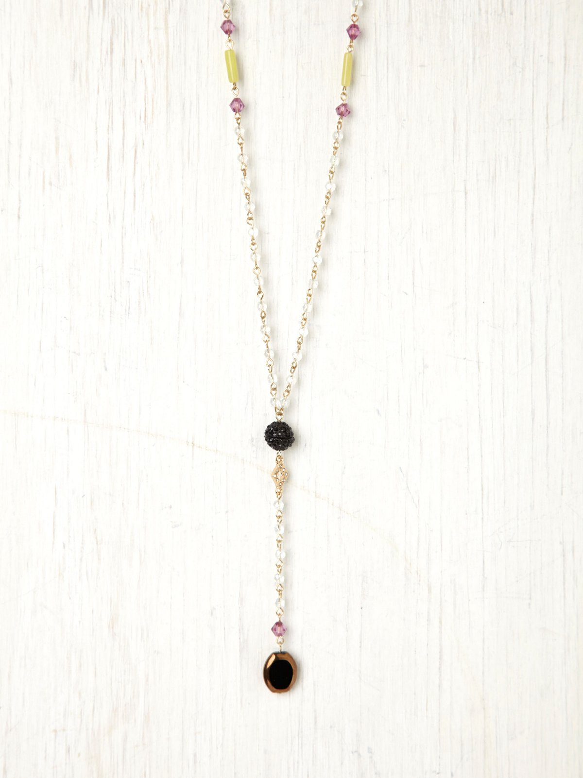 Crystal Ball Rosary Necklace