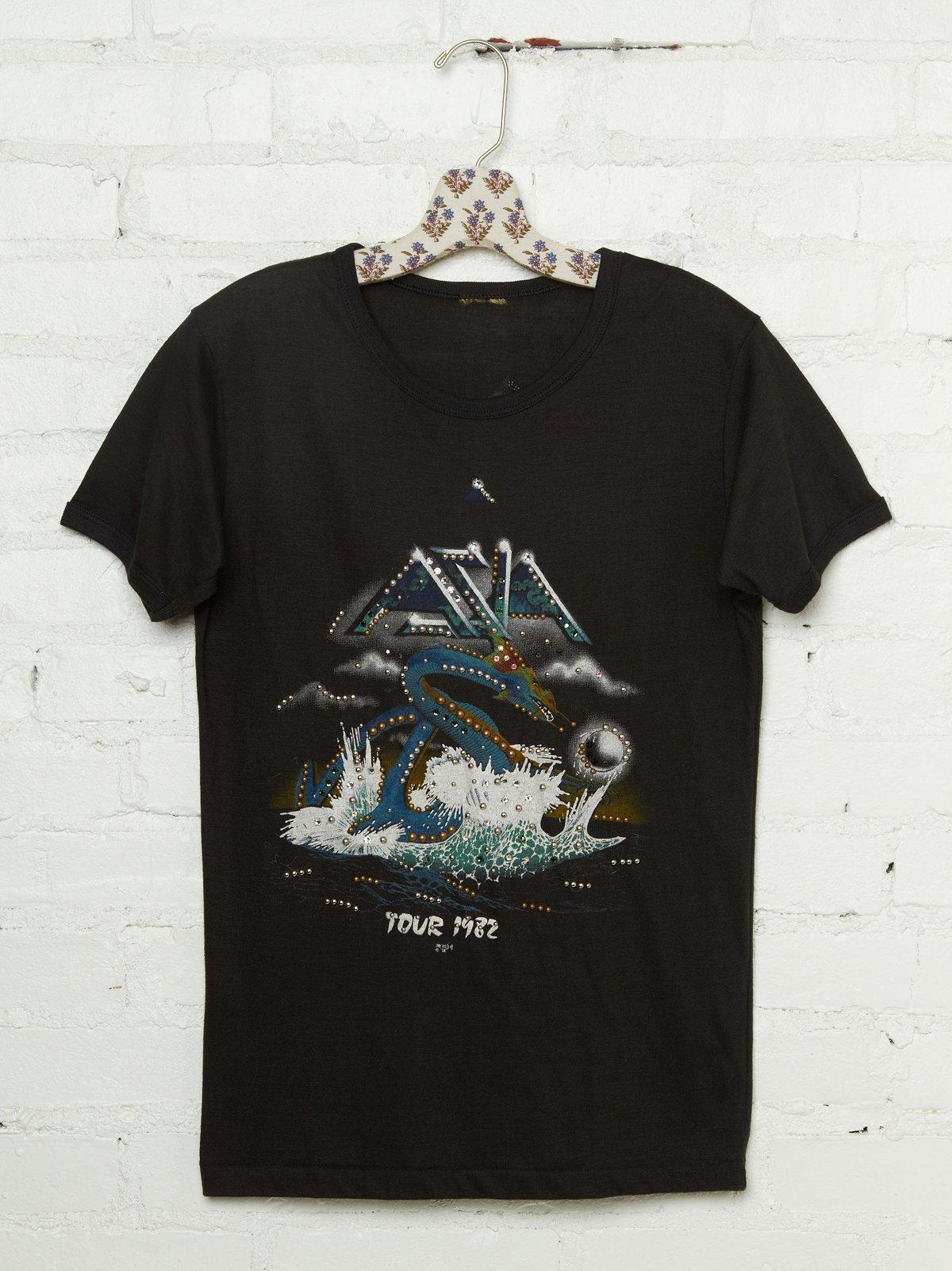 Vintage Studded Asia 1982 Tour Tee