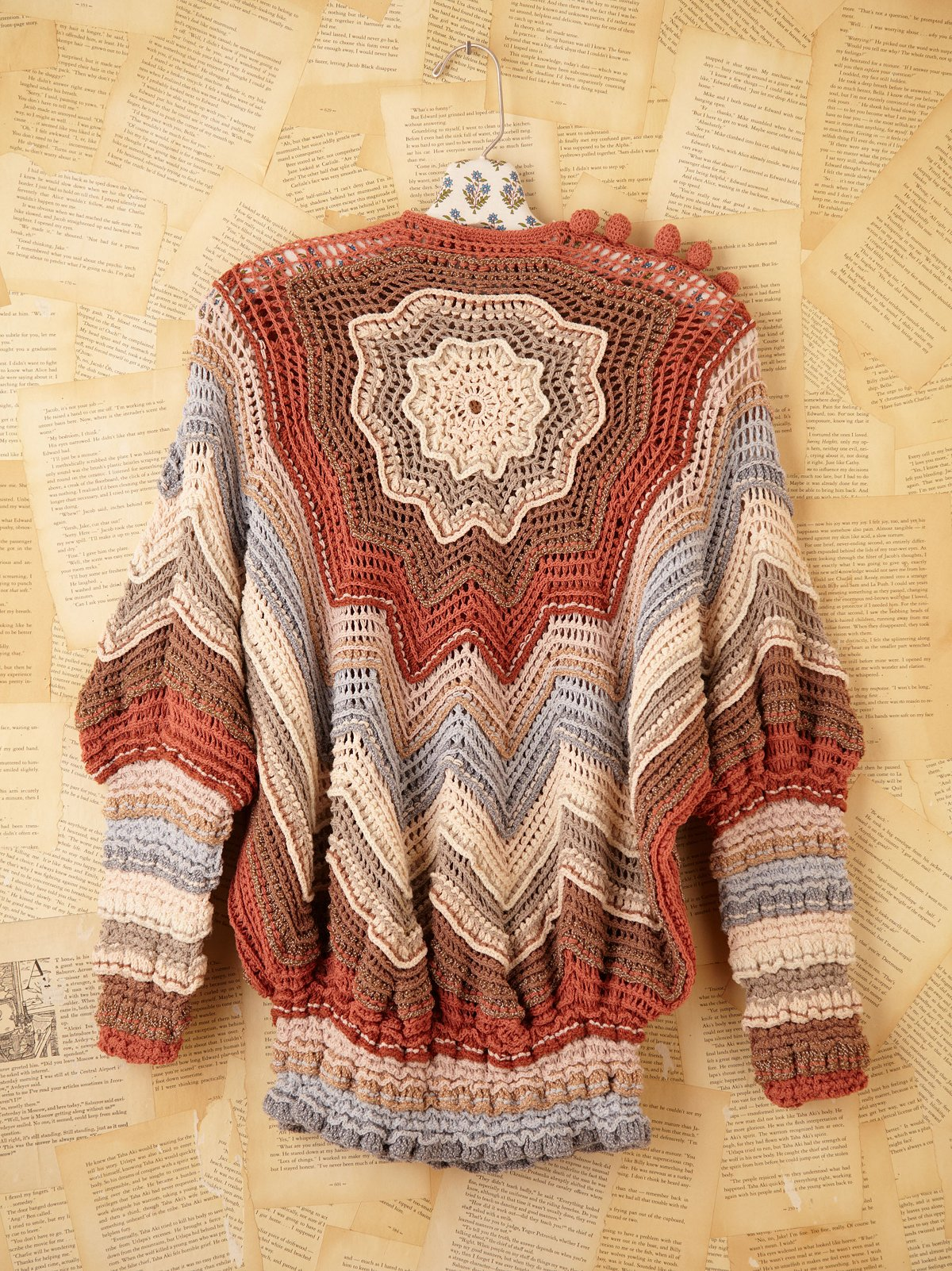 Vintage Hand Crocheted Nili Sweater