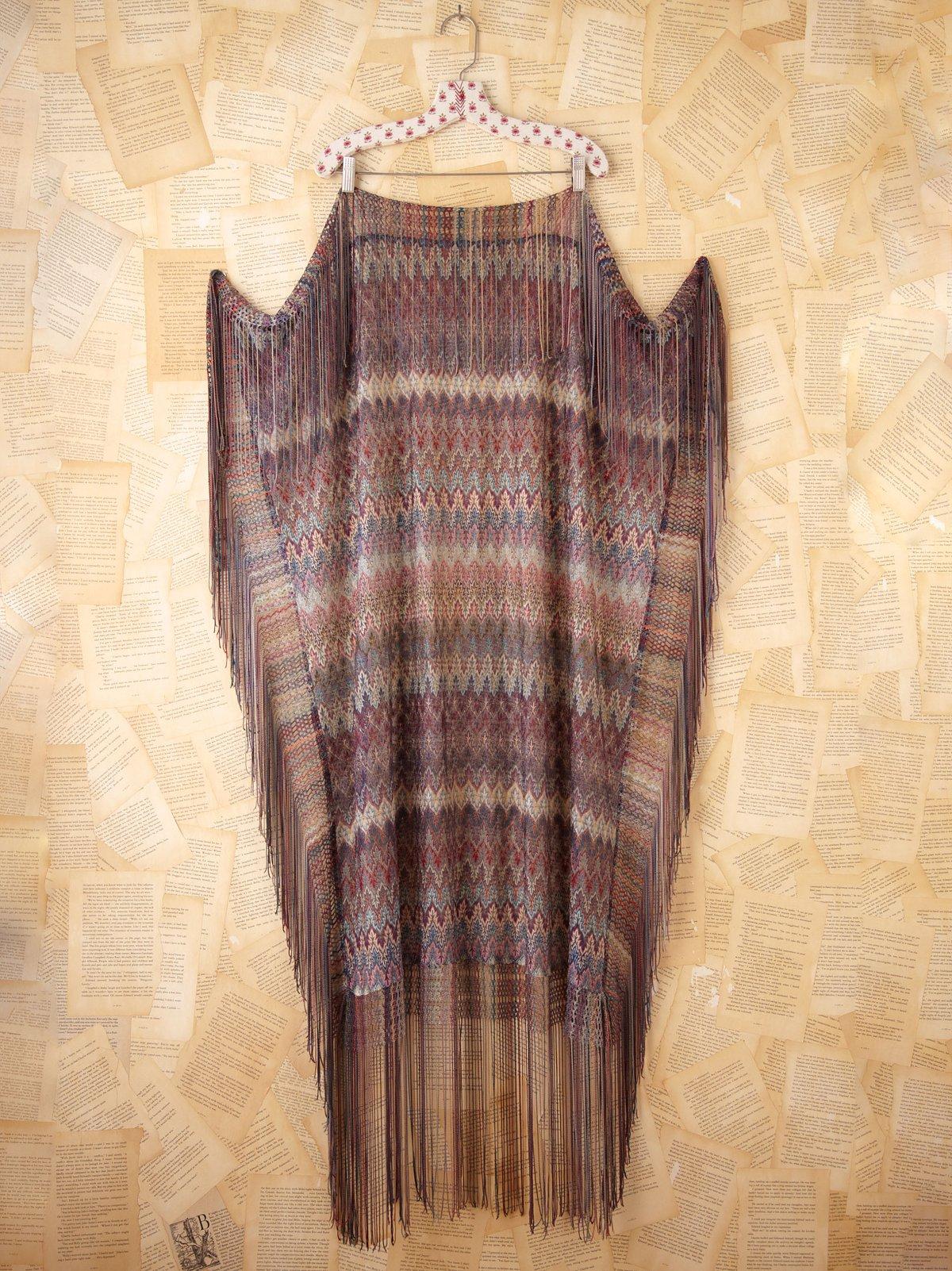 Vintage Silk Knit Shawl