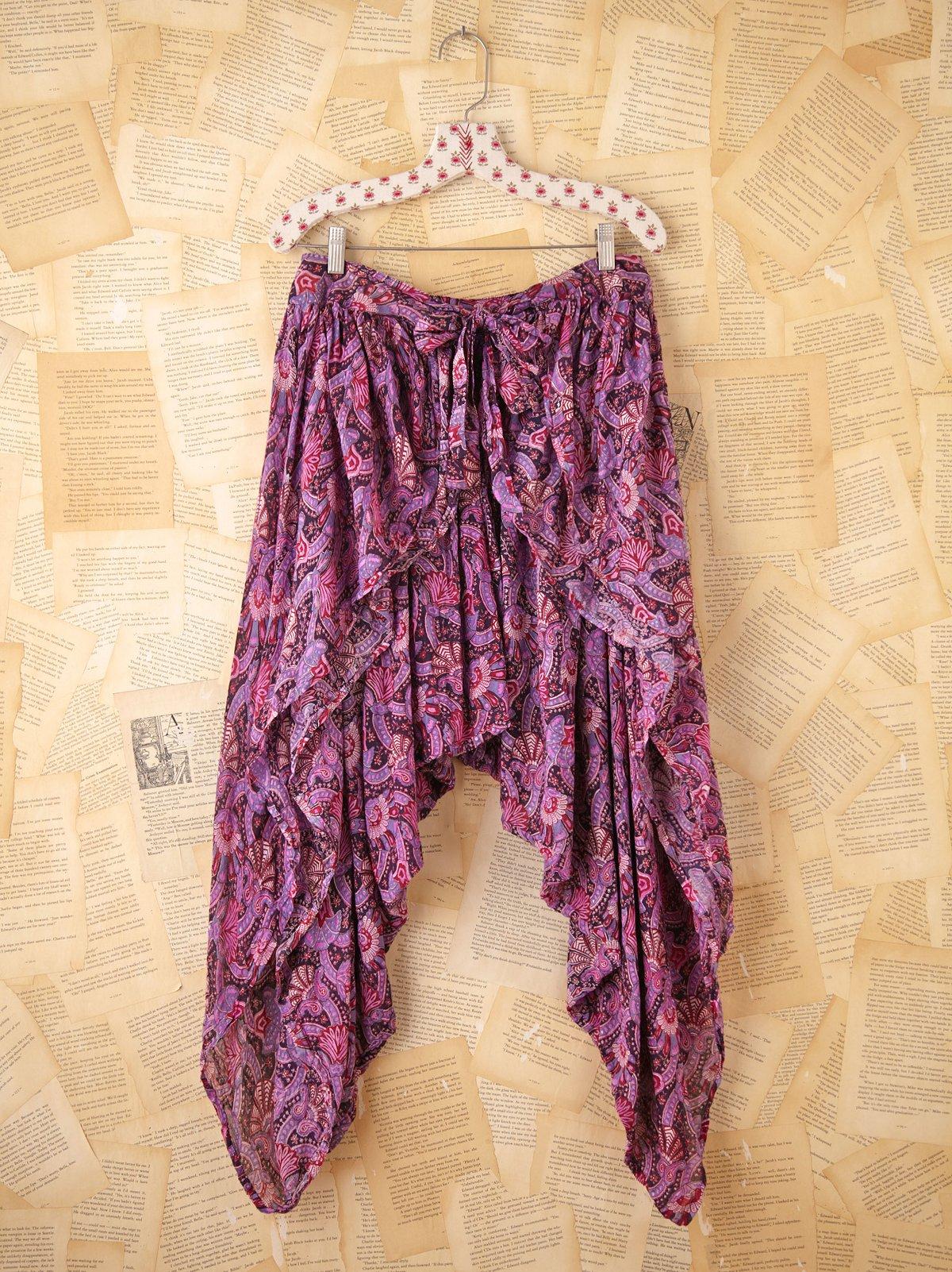 Vintage Printed Harem Pants