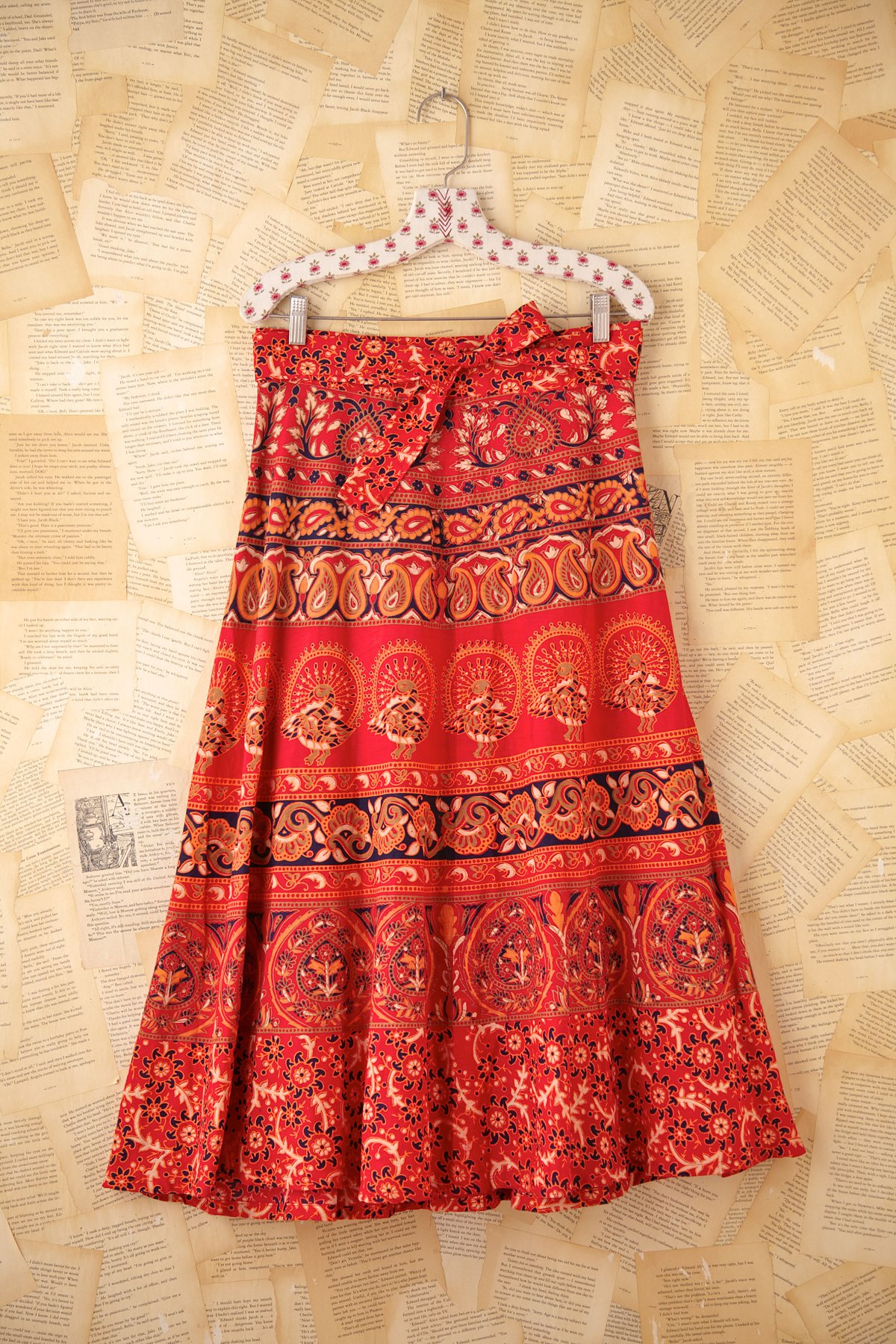 Vintage Maxi Wrap Skirt