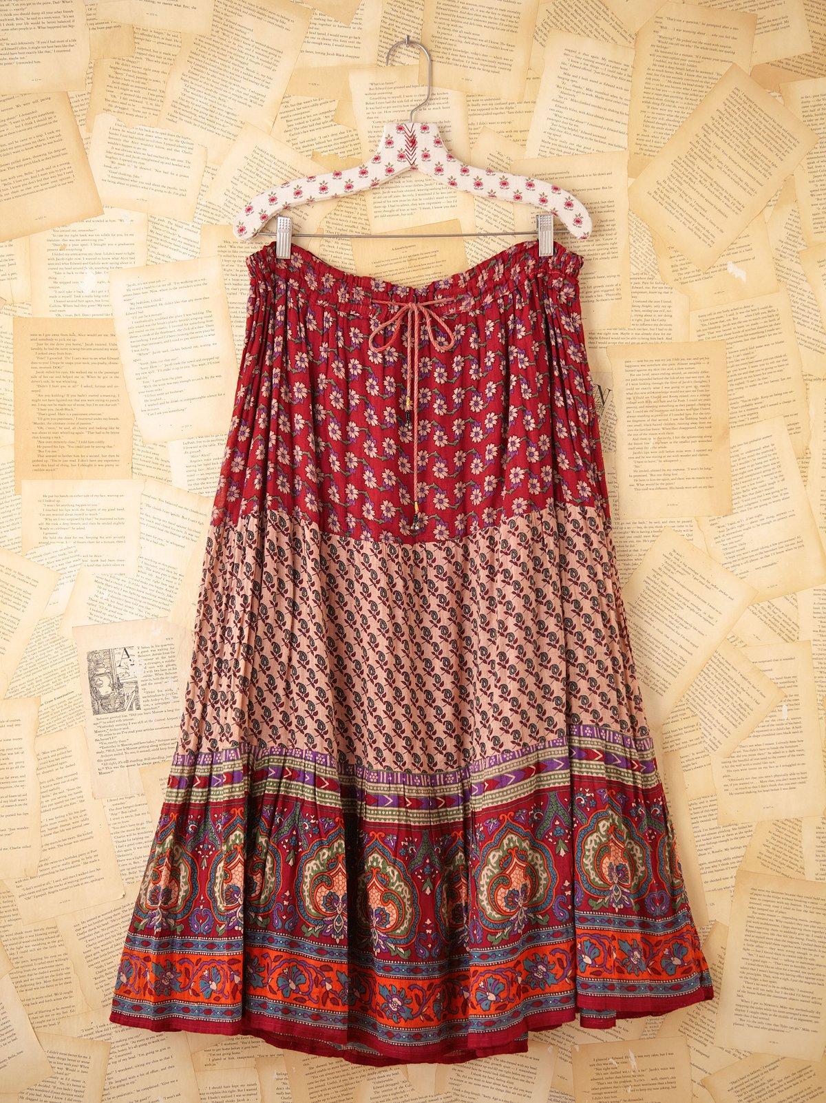 Vintage Indian Boho Skirt