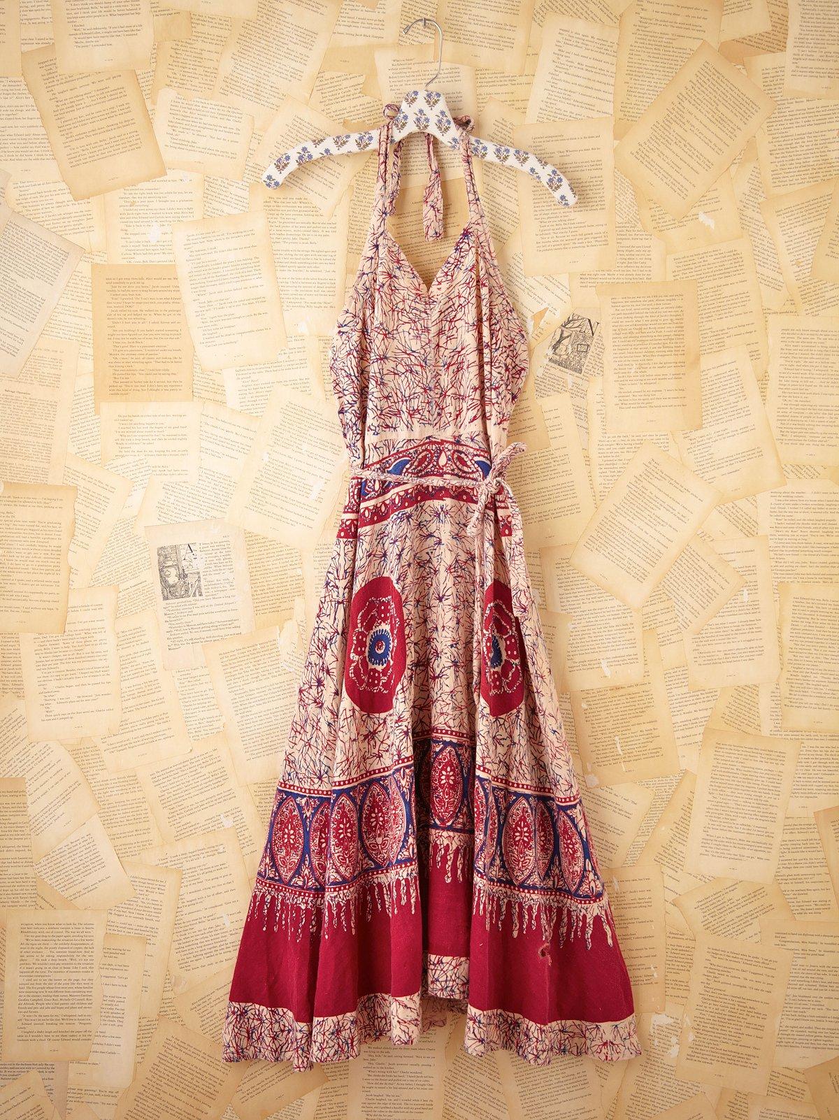 Vintage Batik Apron Dress