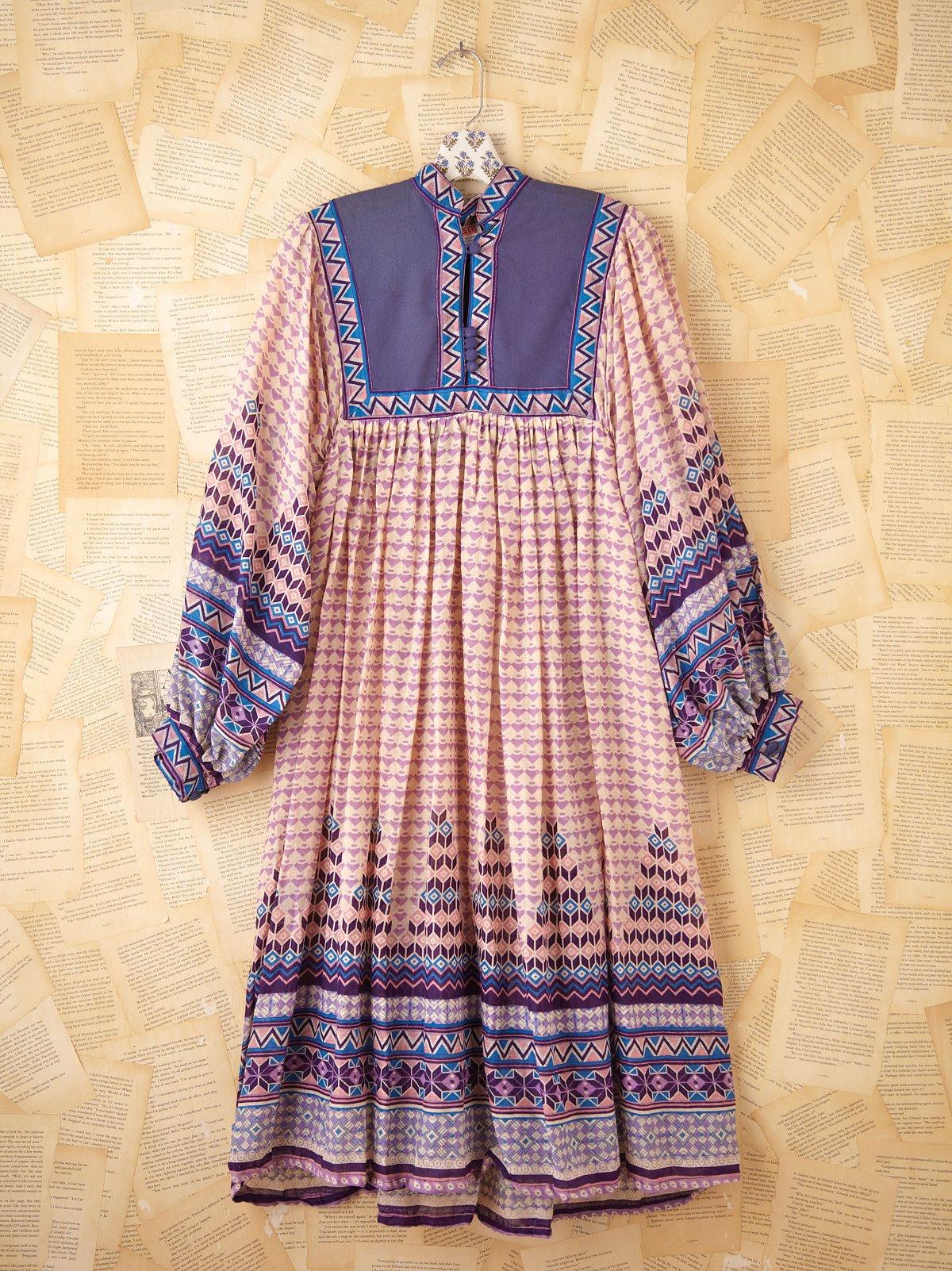 Vintage Cotton Boho Dress