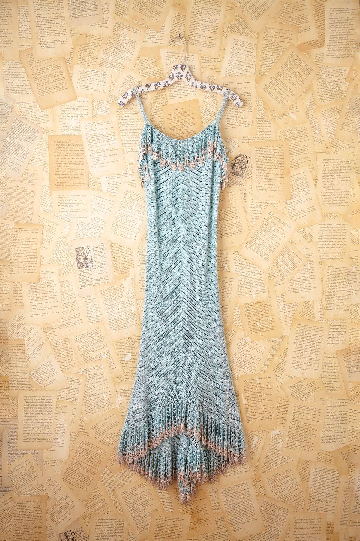 Vintage Long Crochet Dress