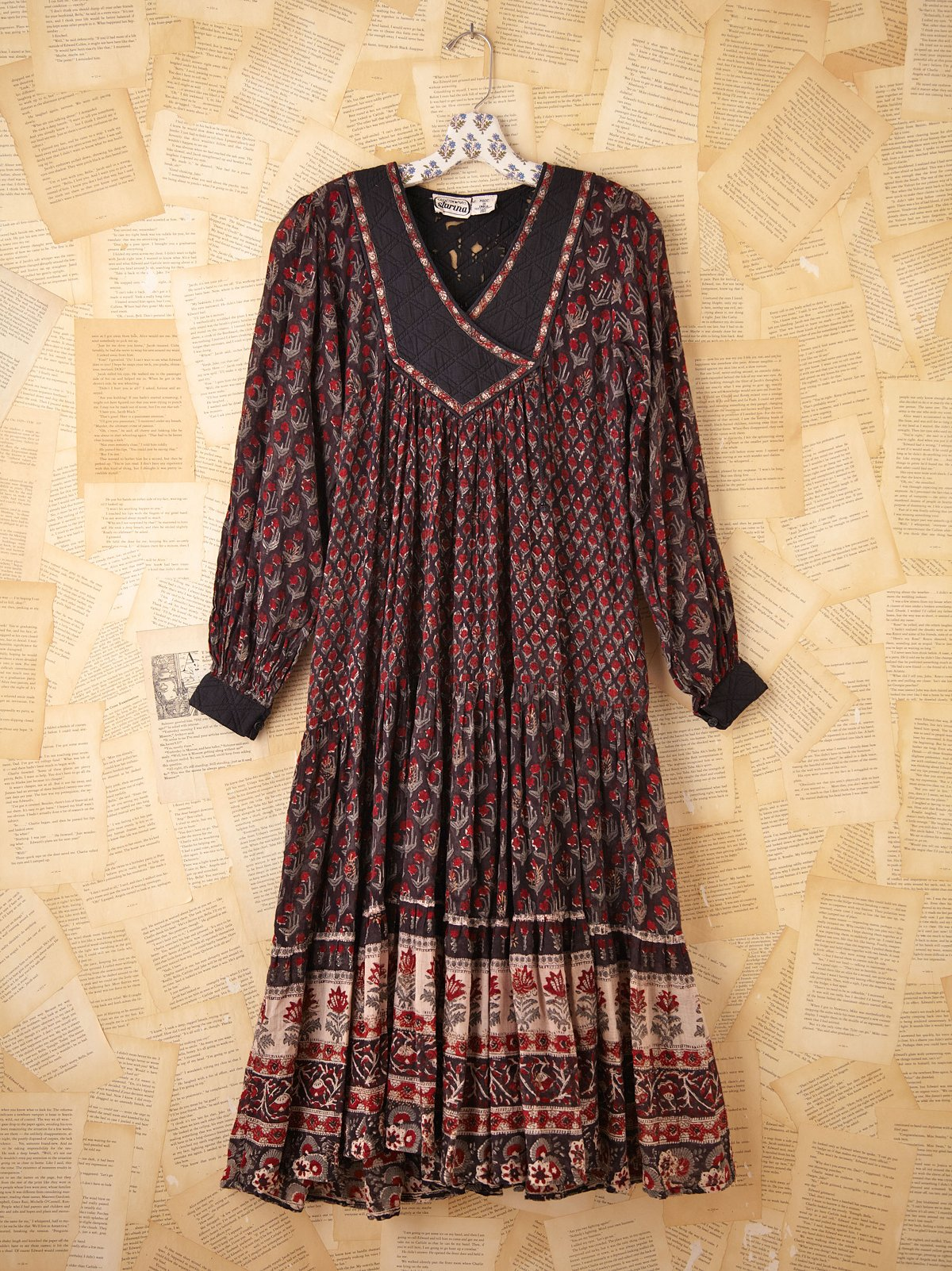Vintage 1970s Indian Cotton Dress