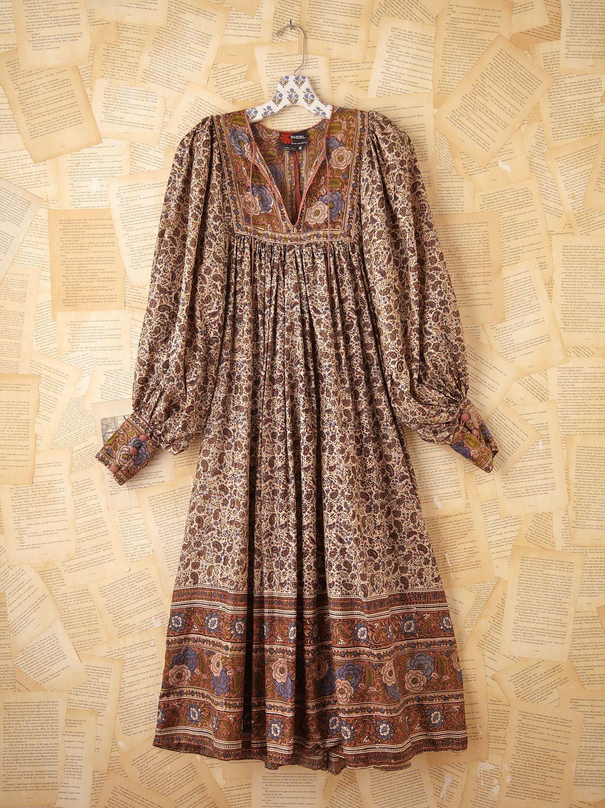 Vintage Silk Indian Boho Dress