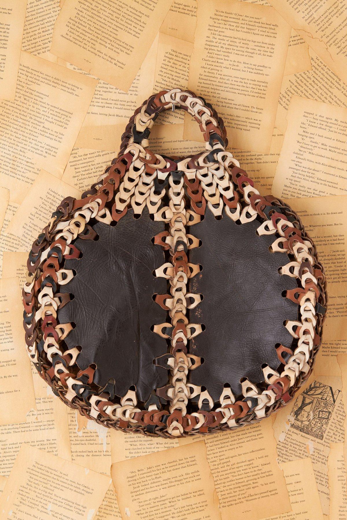 Vintage Chain Leather Bag