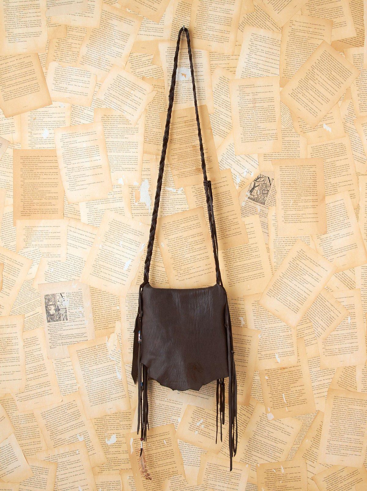 Vintage Leather Fringe Bag