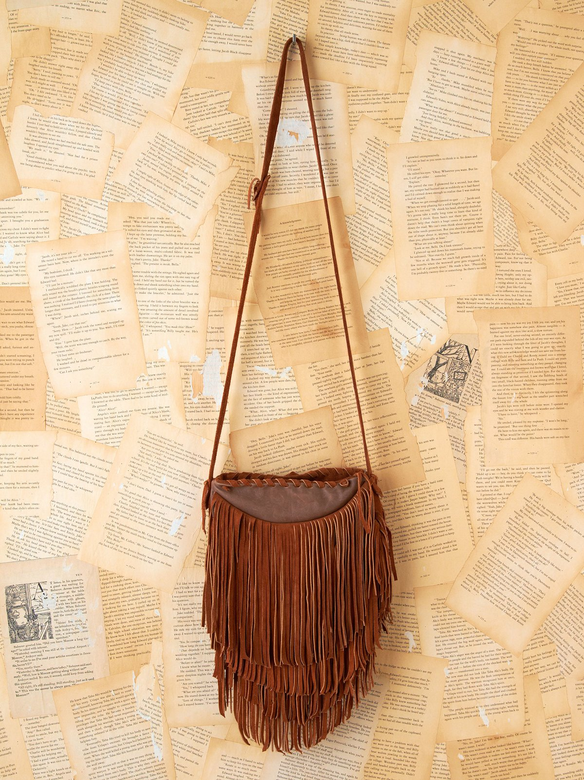 Vintage Leather Fringe Bag