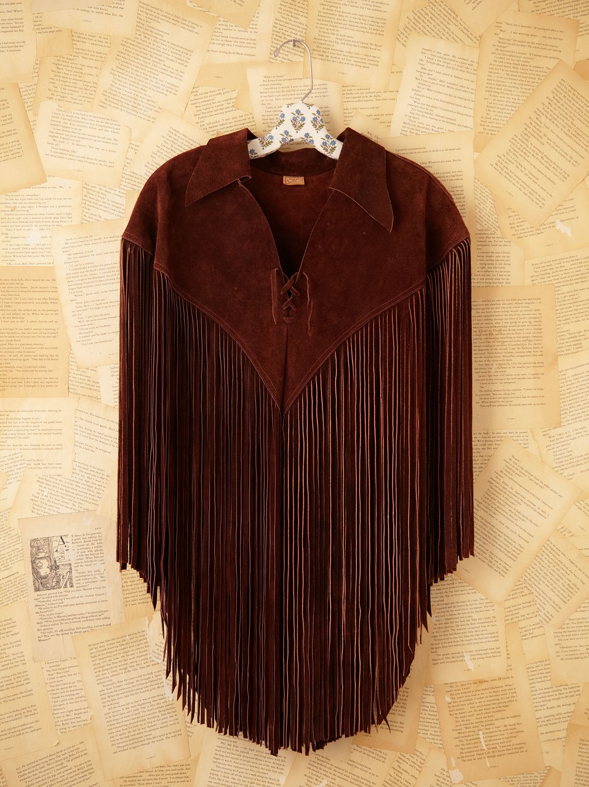 Vintage Leather Poncho