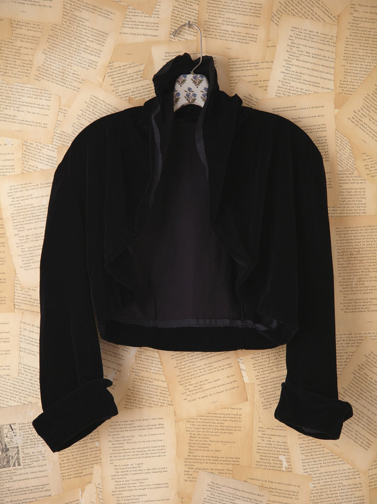 Vintage Black Silk Cropped Jacket