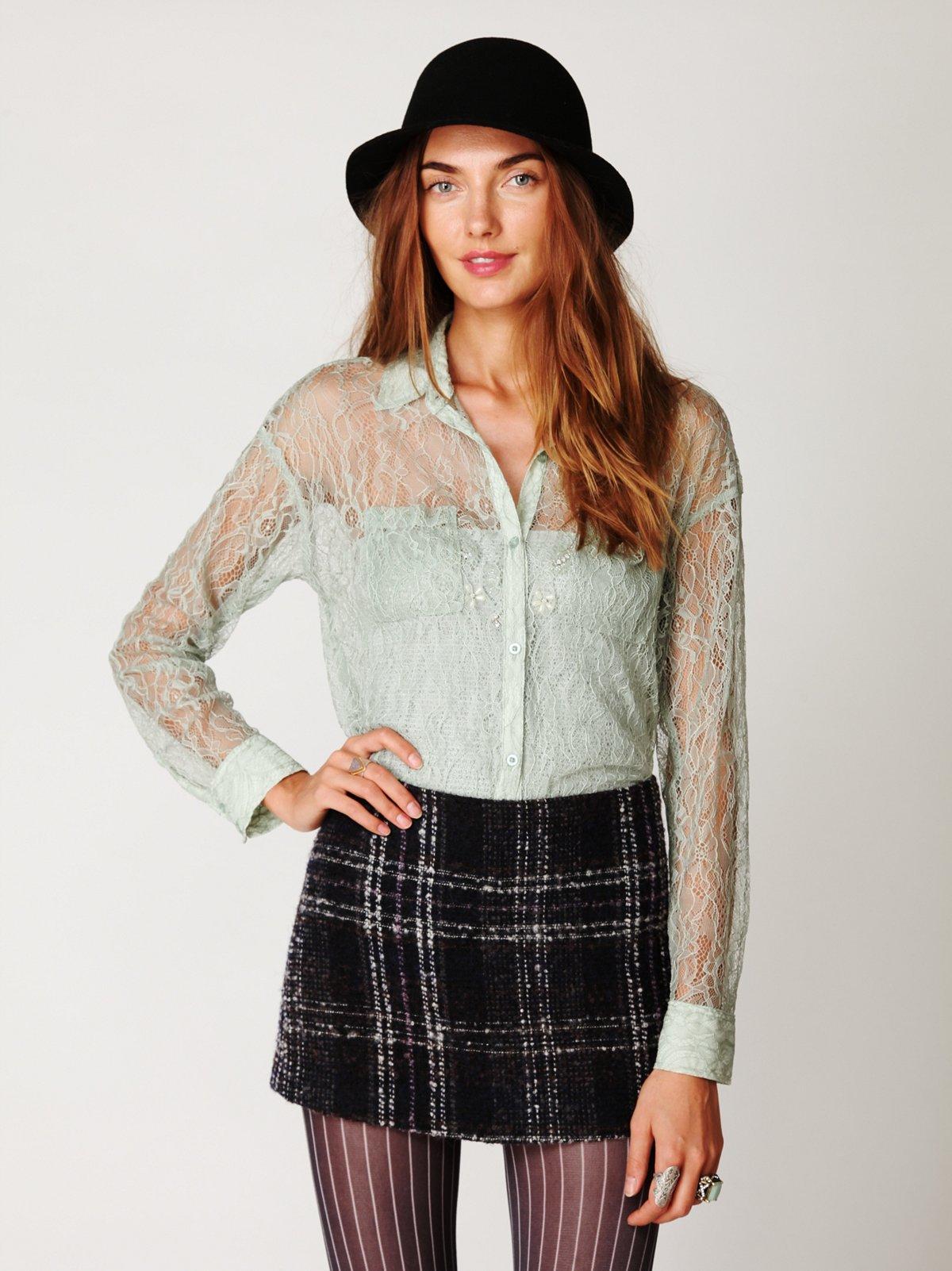 Lace Buttondown