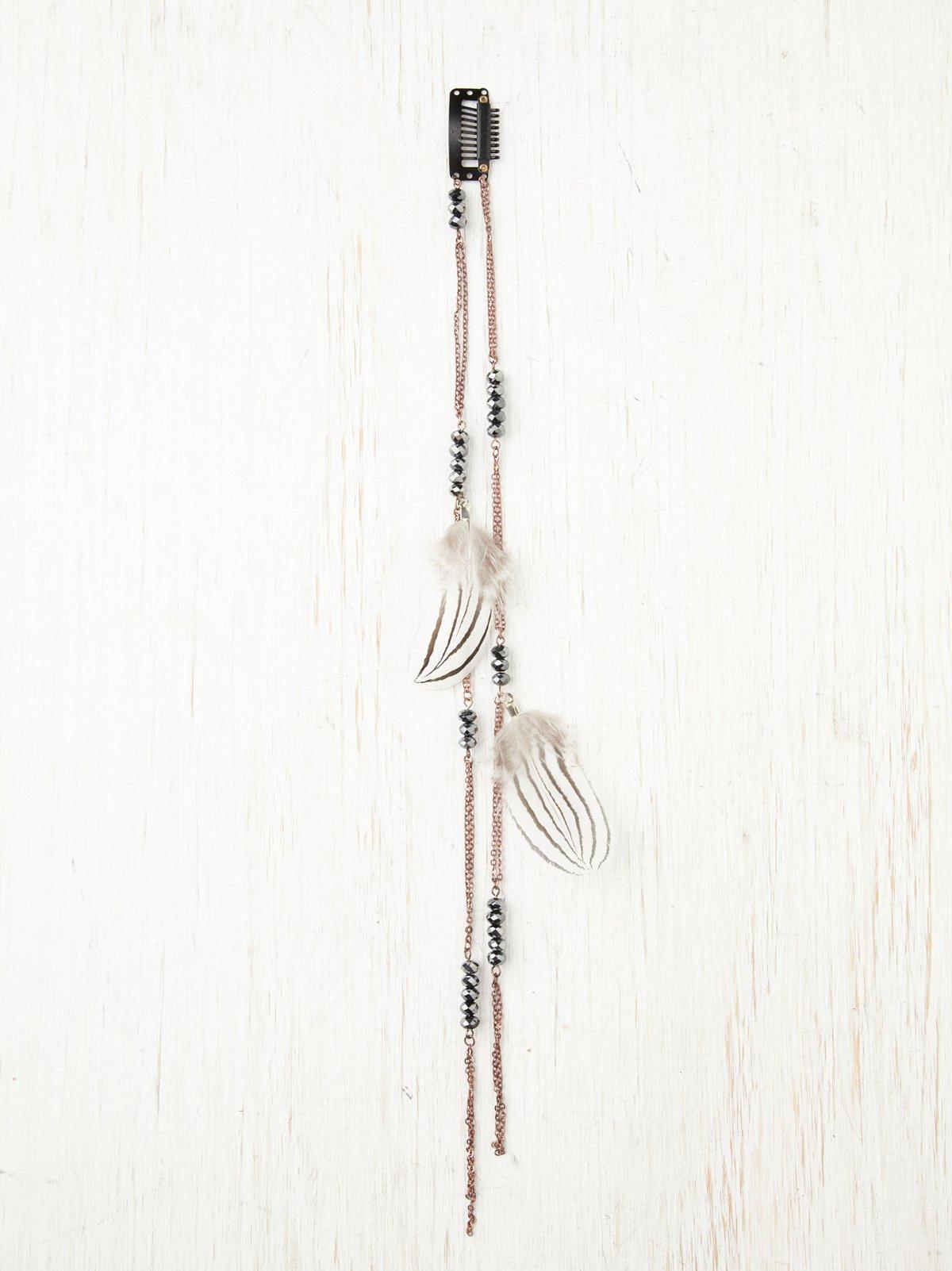 Glitzed Feather Clip