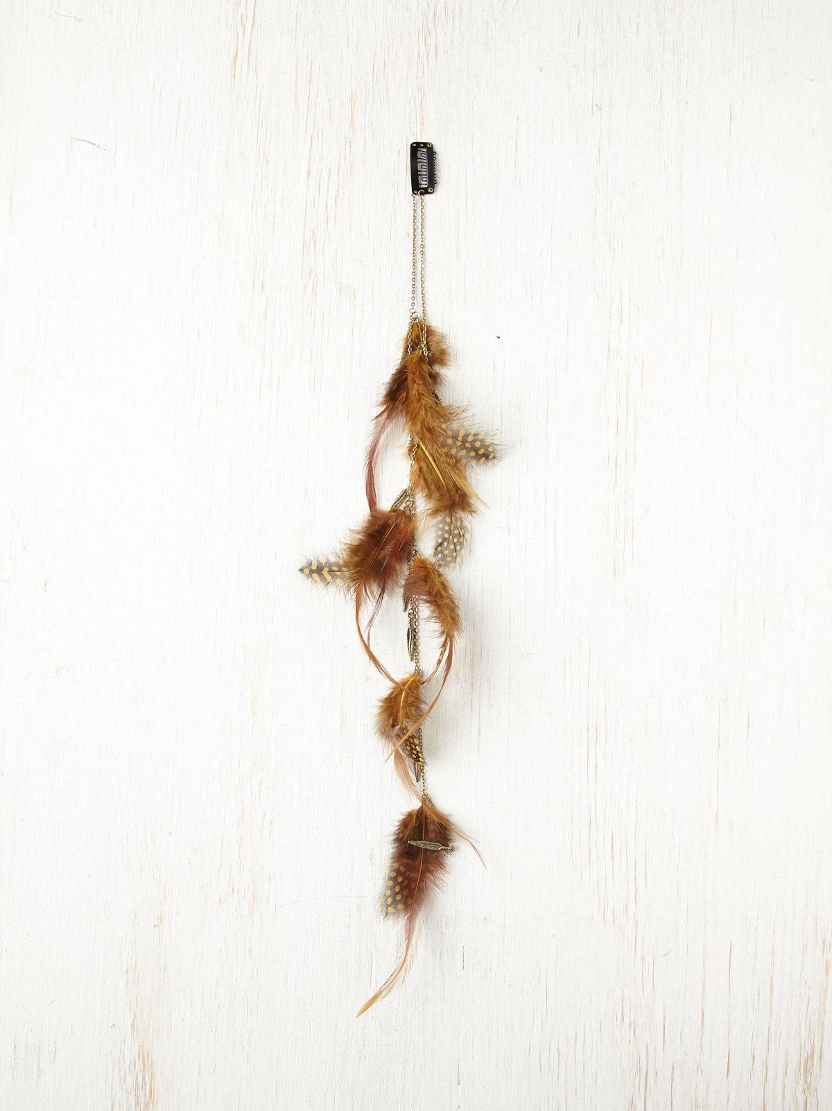 Feather Charm Hair Clip