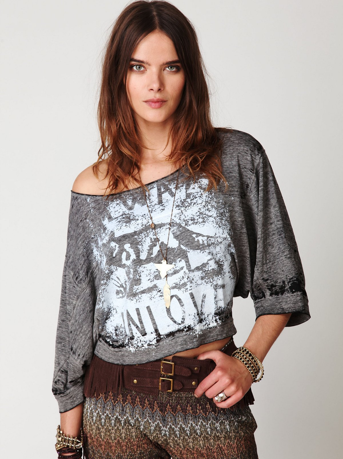 We The Free Fox Graphic Washed Tee