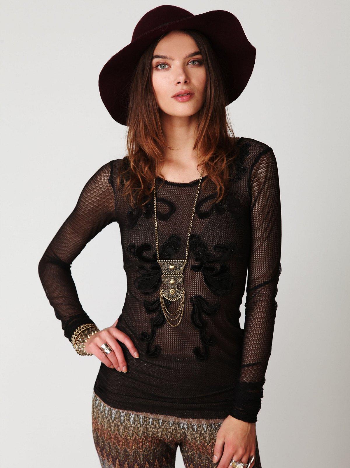 Gypsy Emperor Embellished Long Sleeve Top