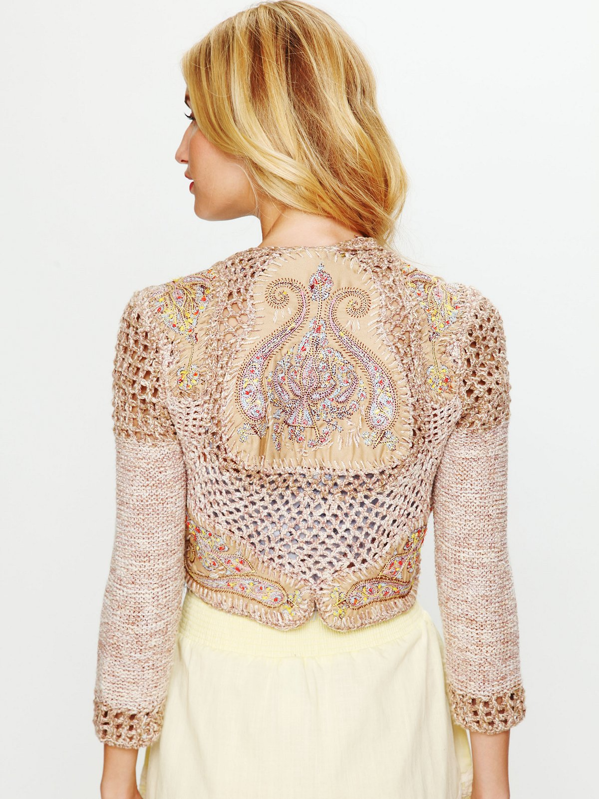 Paisley Cropped Sweater