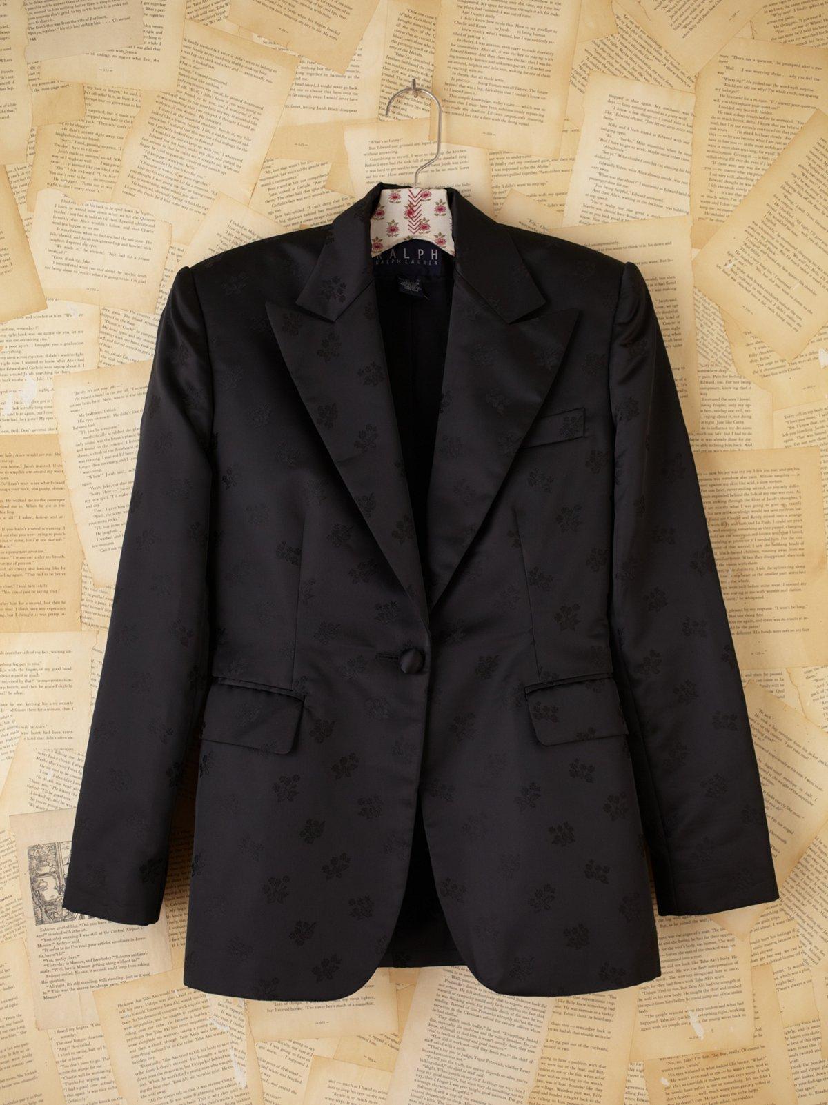 Vintage 1980s Ralph Lauren Satin Jacket