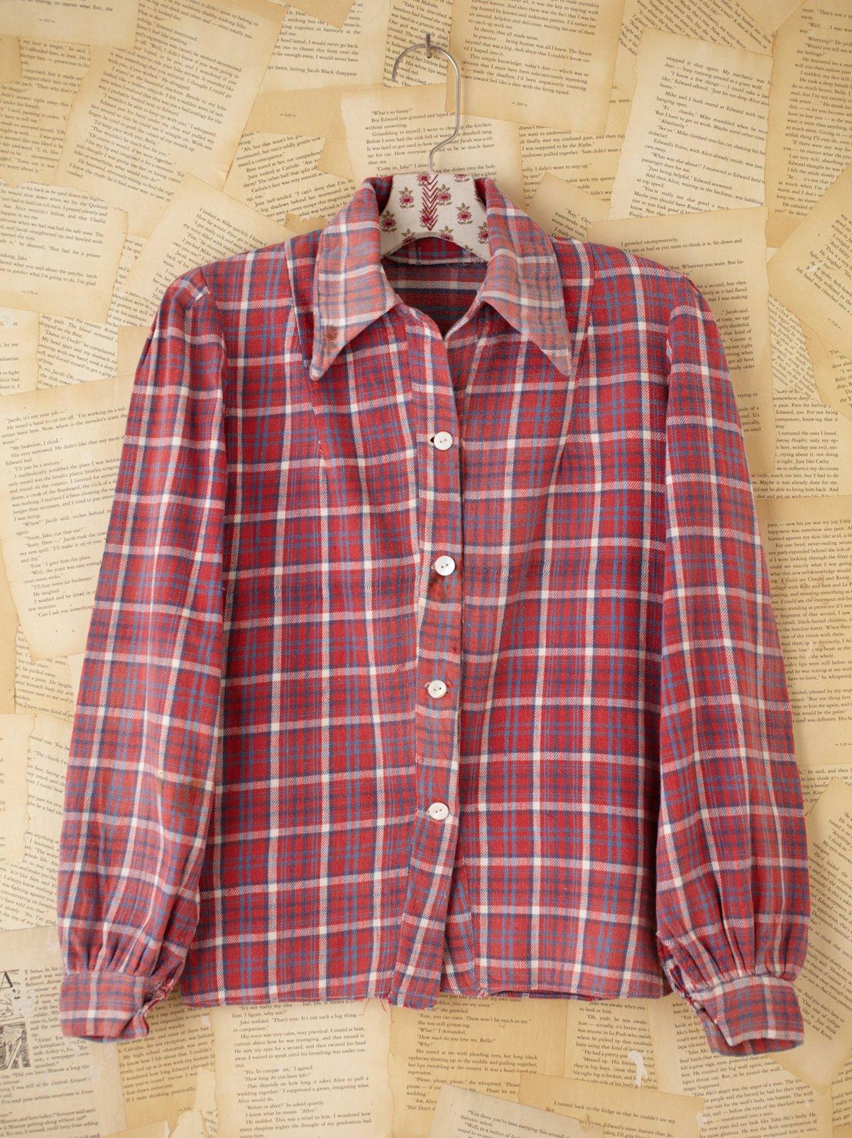 Vintage 1940's Plaid Flannel
